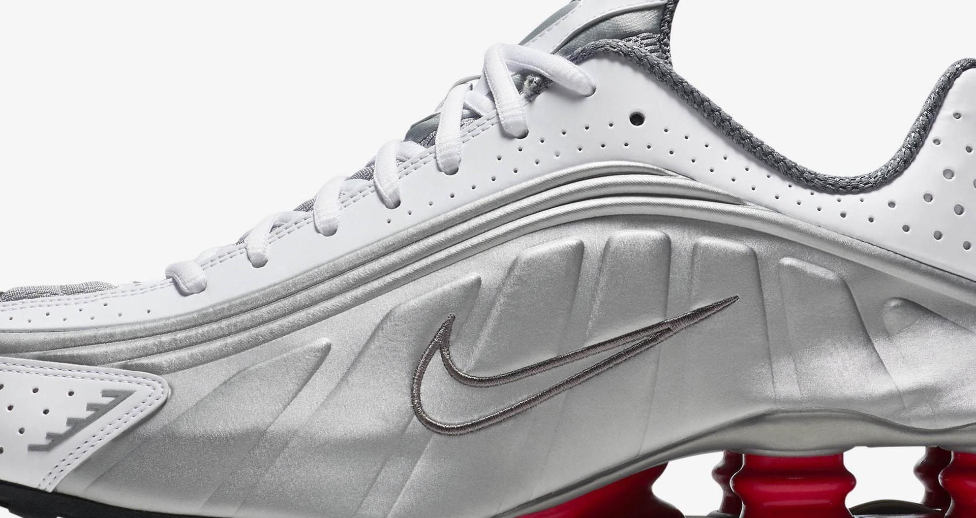 best sneakers 4b9b3 c36a5 Nike Shox R4  White   Comet Red   Metallic Silver  Release Date