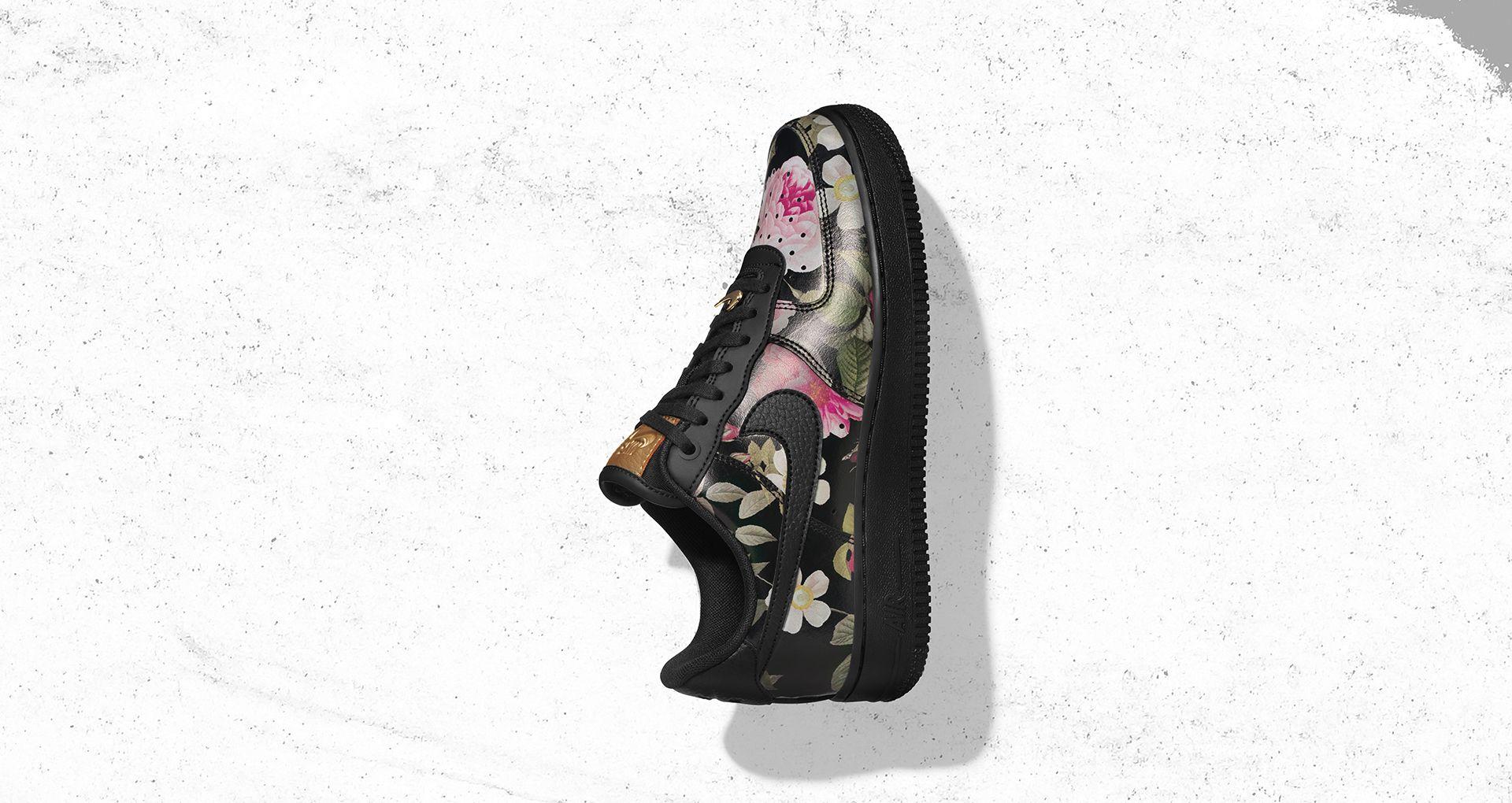 8e29e81fb461 Women s Air Force 1  Floral   Black . Nike+ SNKRS