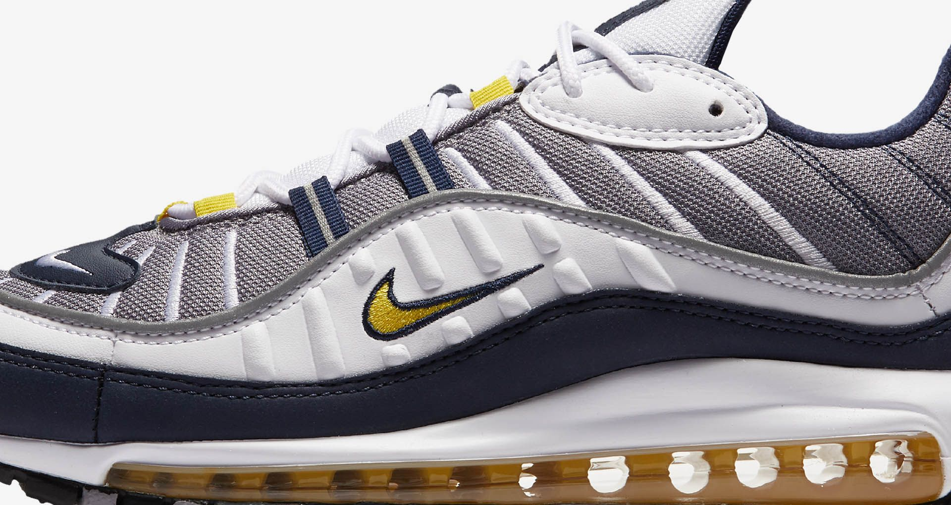 1fee5674c9b Nike Air Max 98  Tour Yellow  amp  Midnight Navy  Release Date. Nike ...