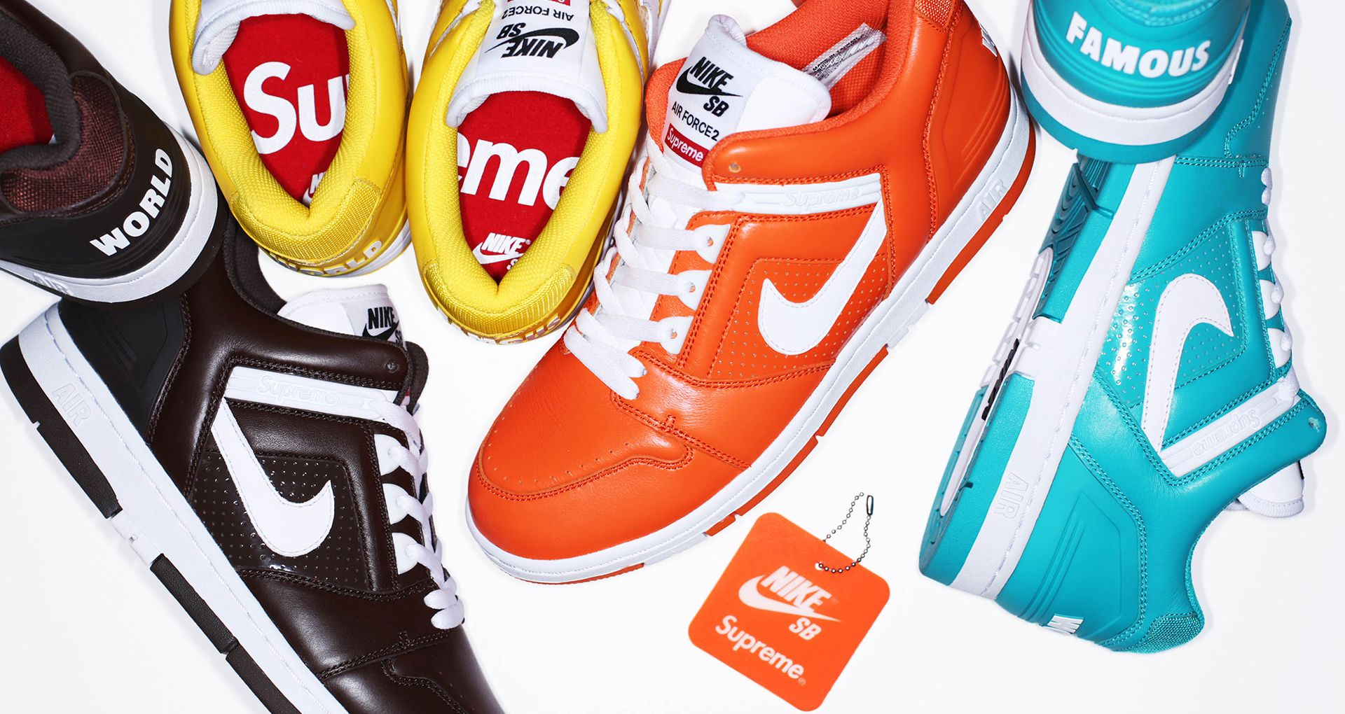 ee8ef60e2189 Nike SB AF2 Low Supreme  Varsity Maize . Nike+ SNKRS