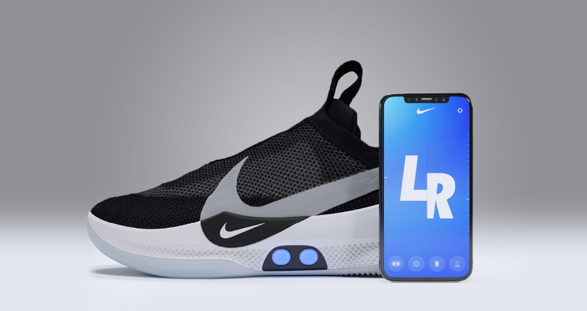look for f296a c6a21 Features at Your Fingertips. Pair your shoes with the Nike Adapt ...