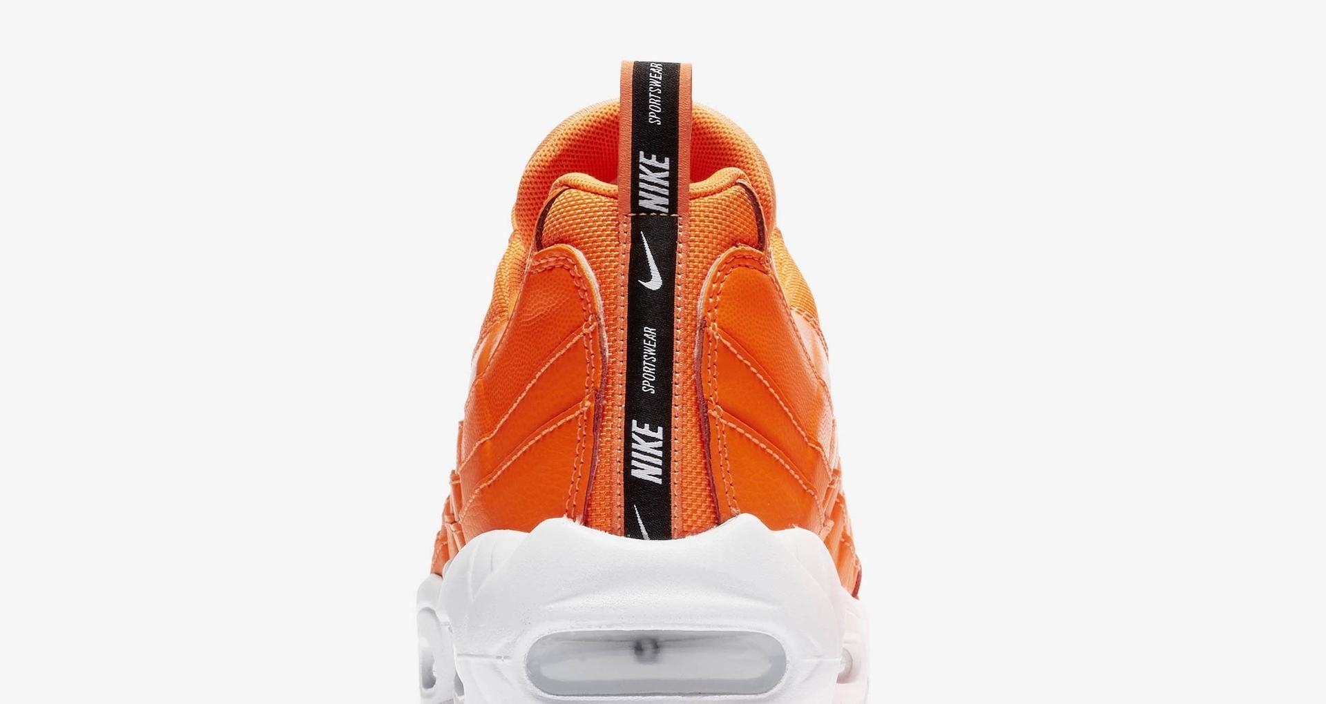 Air Max 95 PRM Total Orange, Black & White