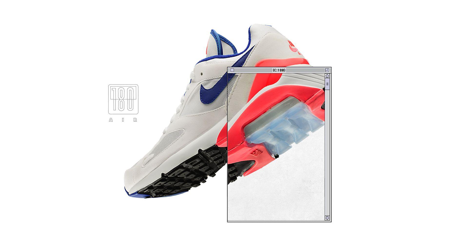 """super tanie uważaj na sprzedaż obuwia Buty damskie Nike Air Max 180 """"White & Solar Red & ..."""