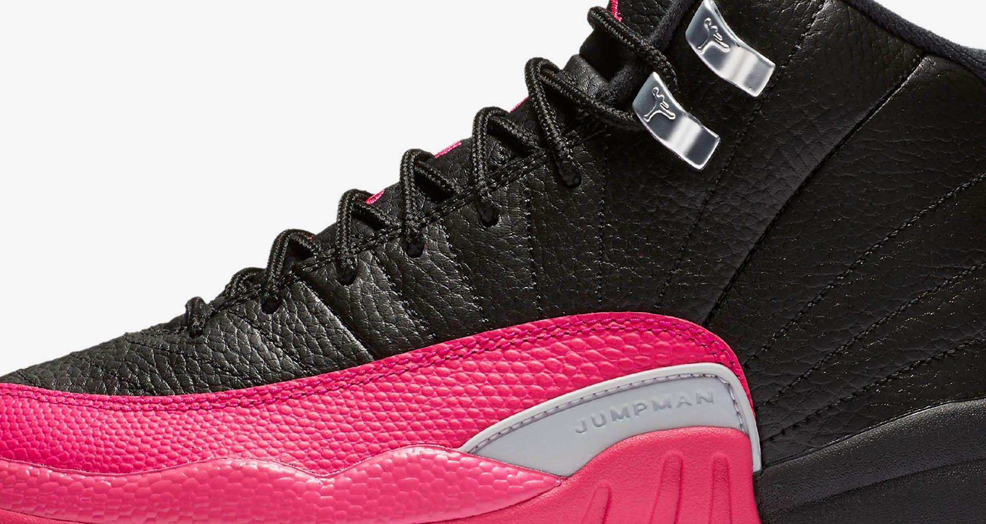 45c7d12af0 Girls' Air Jordan 12 Retro 'Black & Deadly Pink' Release Date. Nike ...