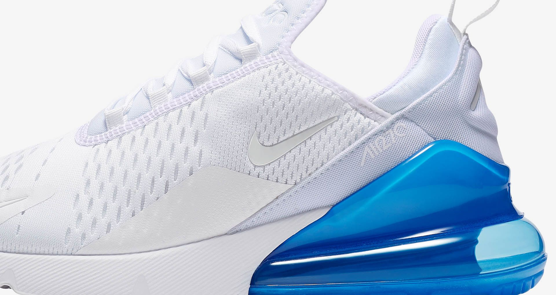 b2e97d8e56 Nike Air Max 270 White Pack 'Photo Blue' Release Date. Nike+ Launch SI