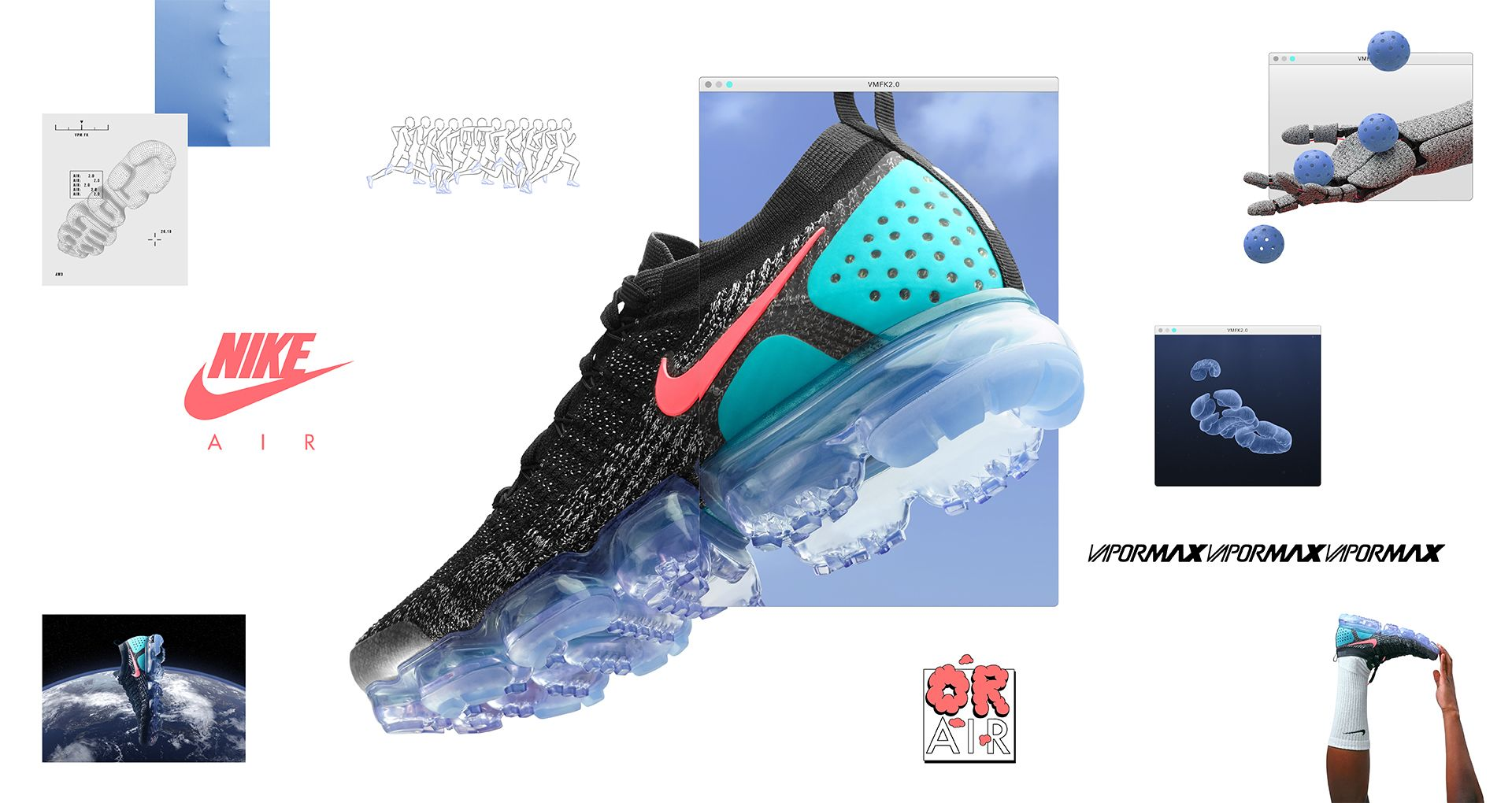 b8492daf73ccd Nike Women s Air Vapormax Flyknit 2  Black   Hot Punch  Release Date ...