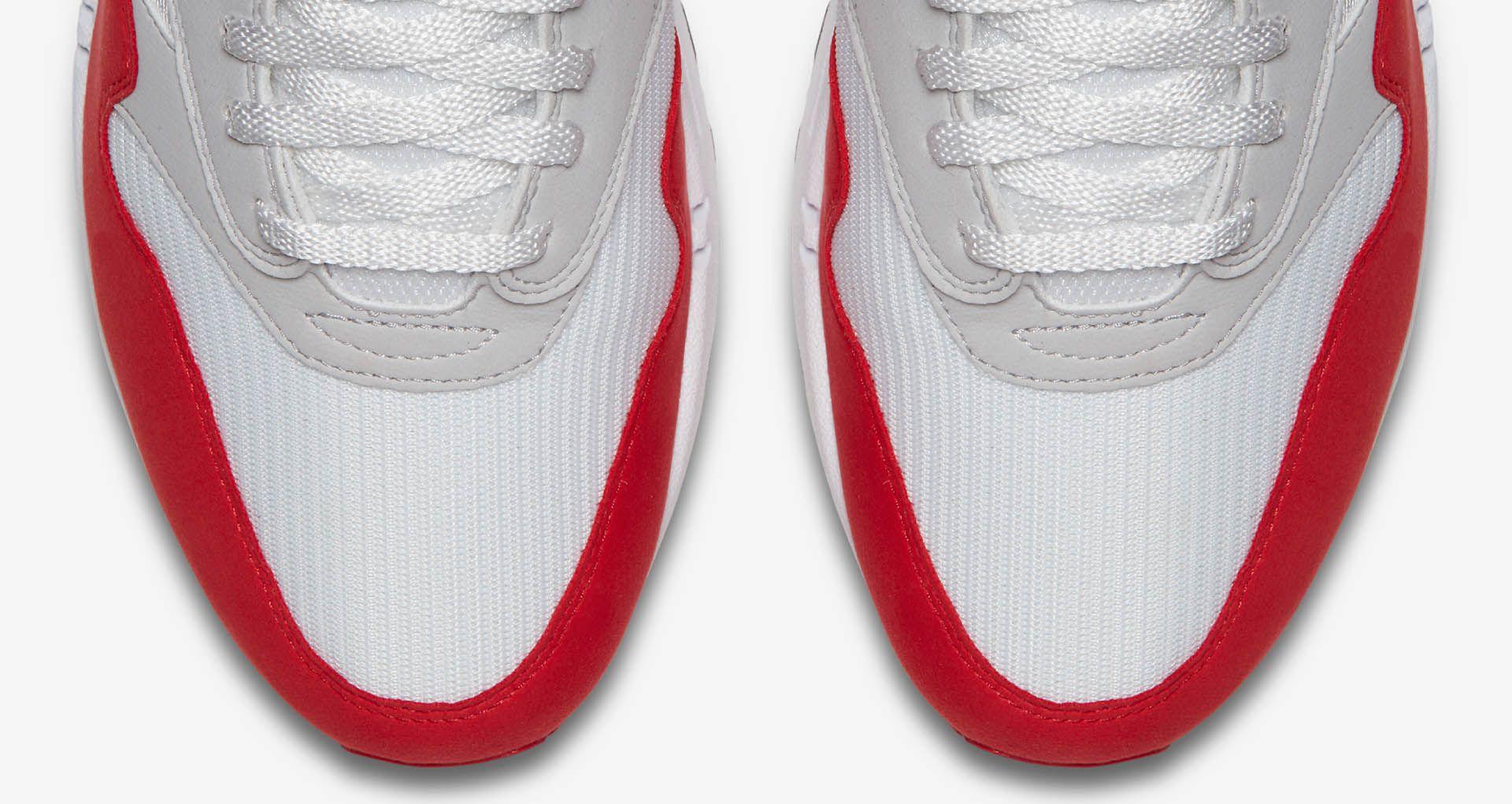 Nike Air Max 1 Anniversary 'White & University Red'. Nike SNKRS