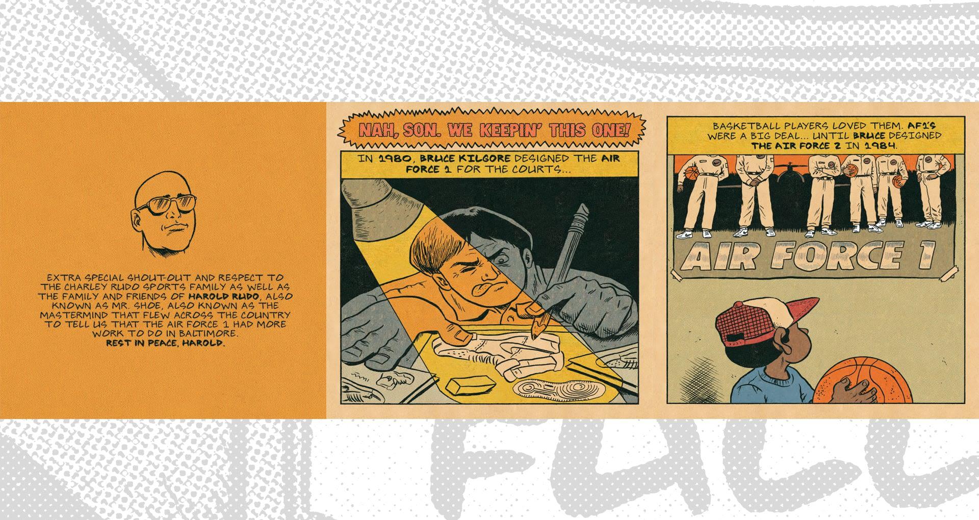 Dimension 6 Comics: Air Force 1 Baltimore '84. Nike SNKRS