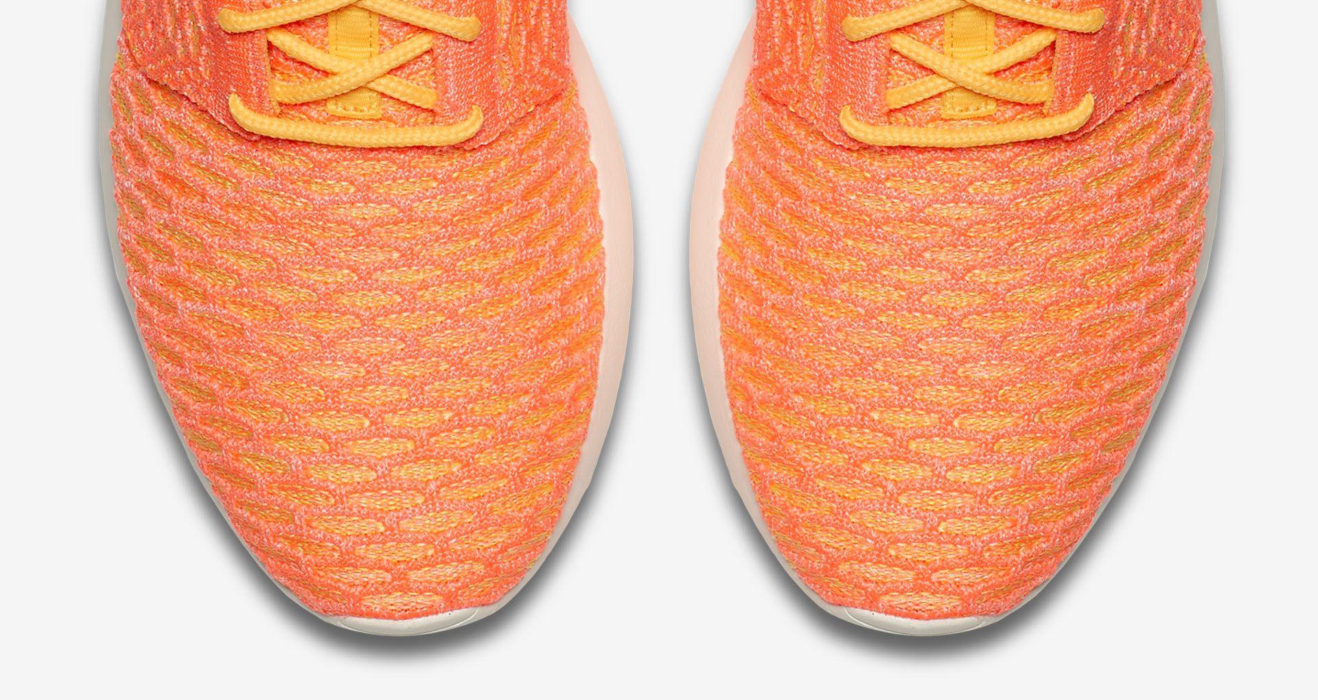 4a32a3657c32 Women s Nike Roshe One Flyknit  Laser Orange . Nike+ SNKRS