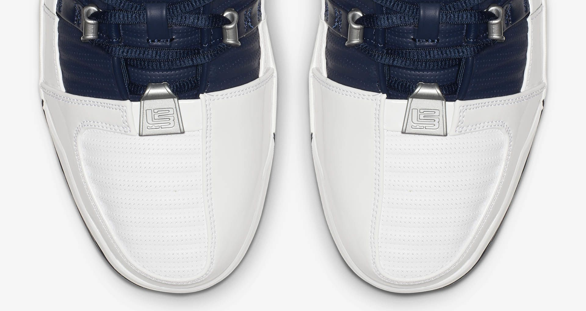 d1f9d352adf42 ... the Zoom LeBron III now arrives in the original midnight navy and metallic  silver-accented colorway. Sold Out