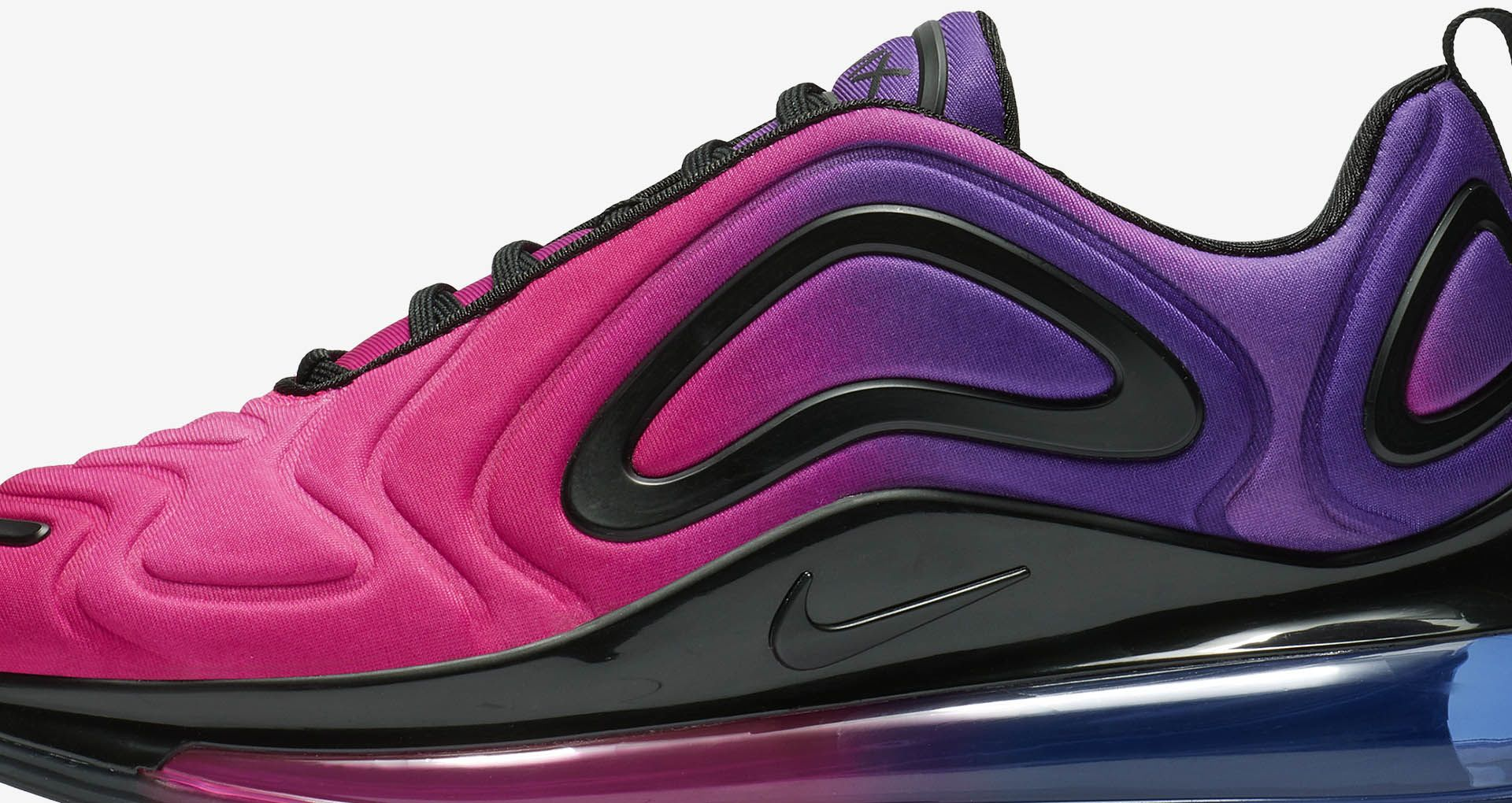 Details about New Women's Air Max 720 Sunset Hyper Pink Hyper Purple Blue and Black AR9293 500