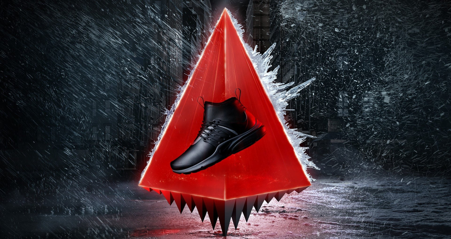 sale retailer 8516d f73b6 Women's Nike Air Presto Mid Utility SneakerBoot 'Black & ...