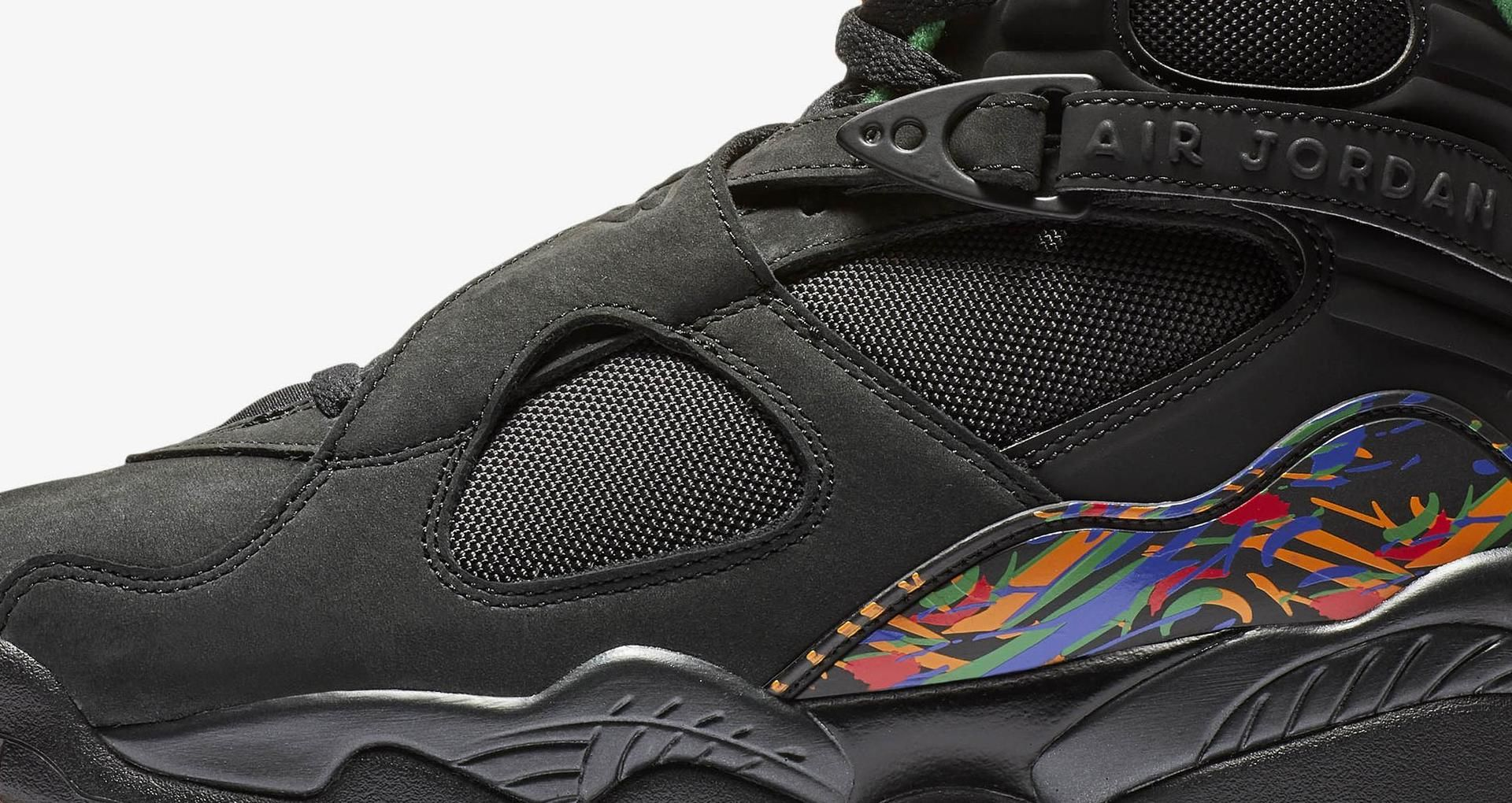 detailed look 2e740 587e7 Air Jordan 8 'Black & Orange & Aloe Verde' Release Date ...