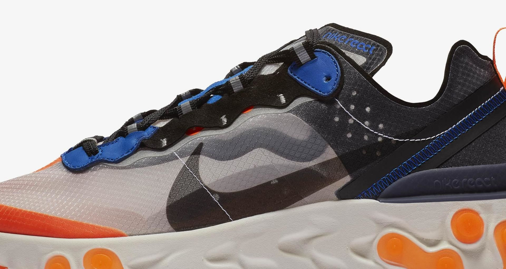 5bc4508f2df8 Nike React Element 87  Total Orange   Black   Thunder Blue  Release Date