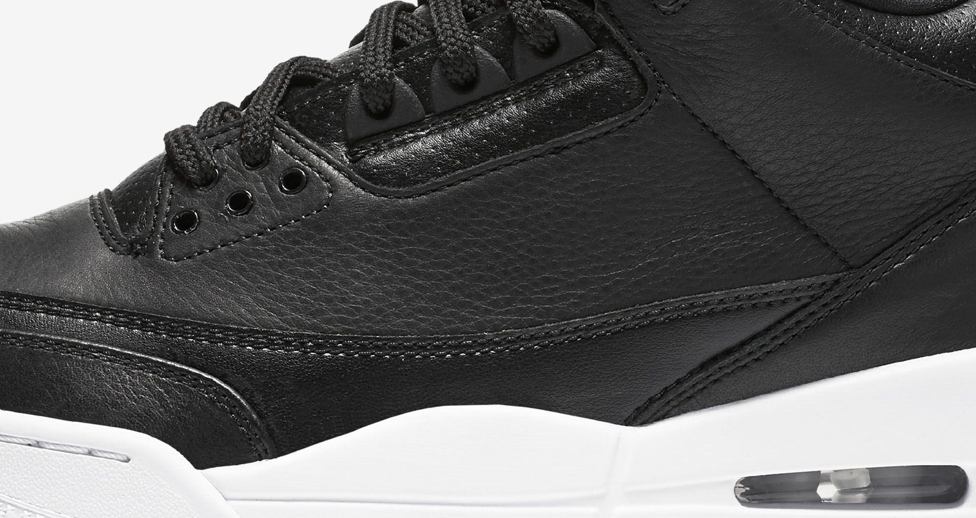b3240cca8f18 Air Jordan 3 Retro  Black   White  Release Date. Nike+ SNKRS
