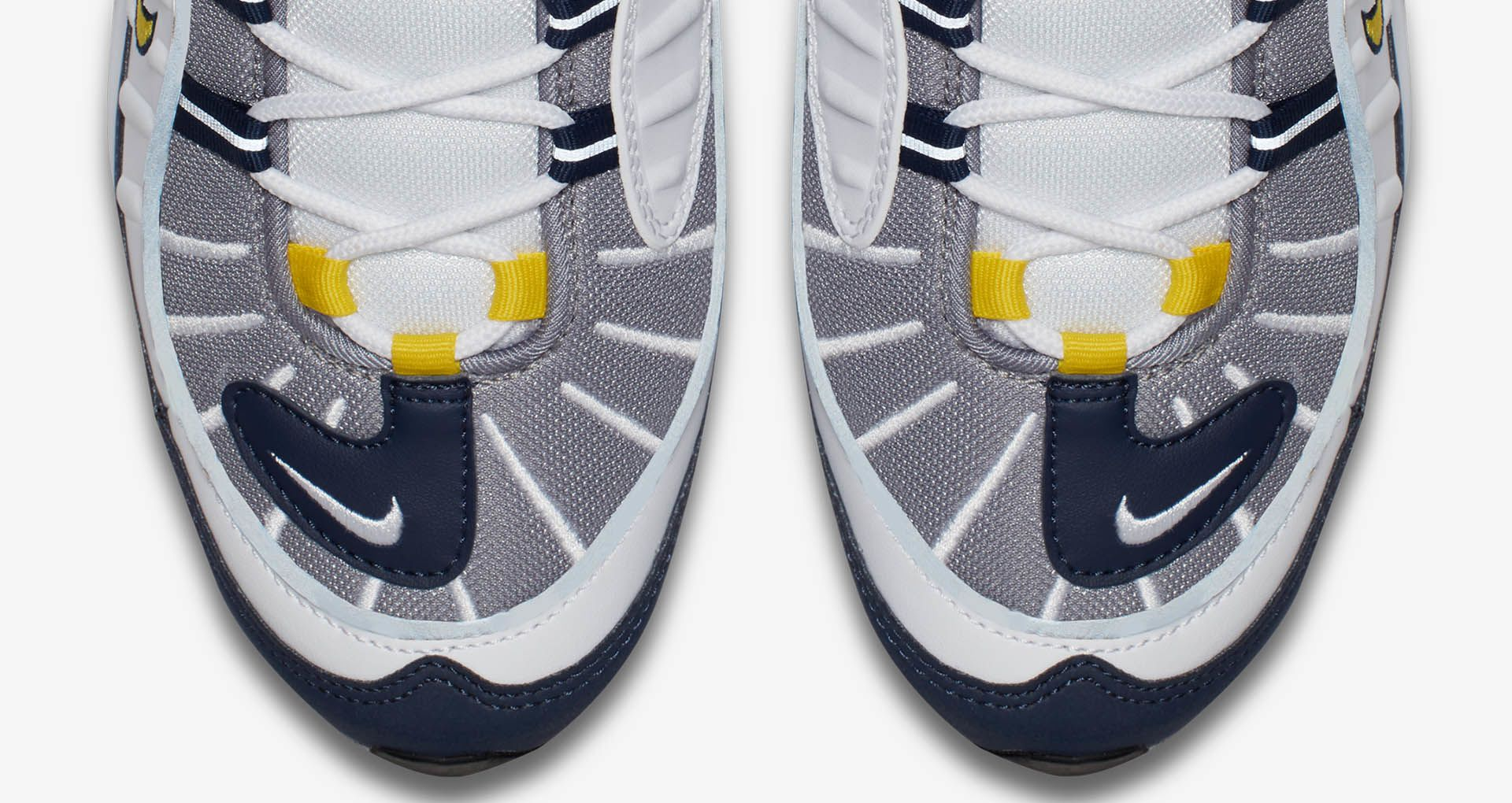 the best attitude best deals on closer at Nike Air Max 98 'Tour Yellow & Midnight Navy' Release Date ...