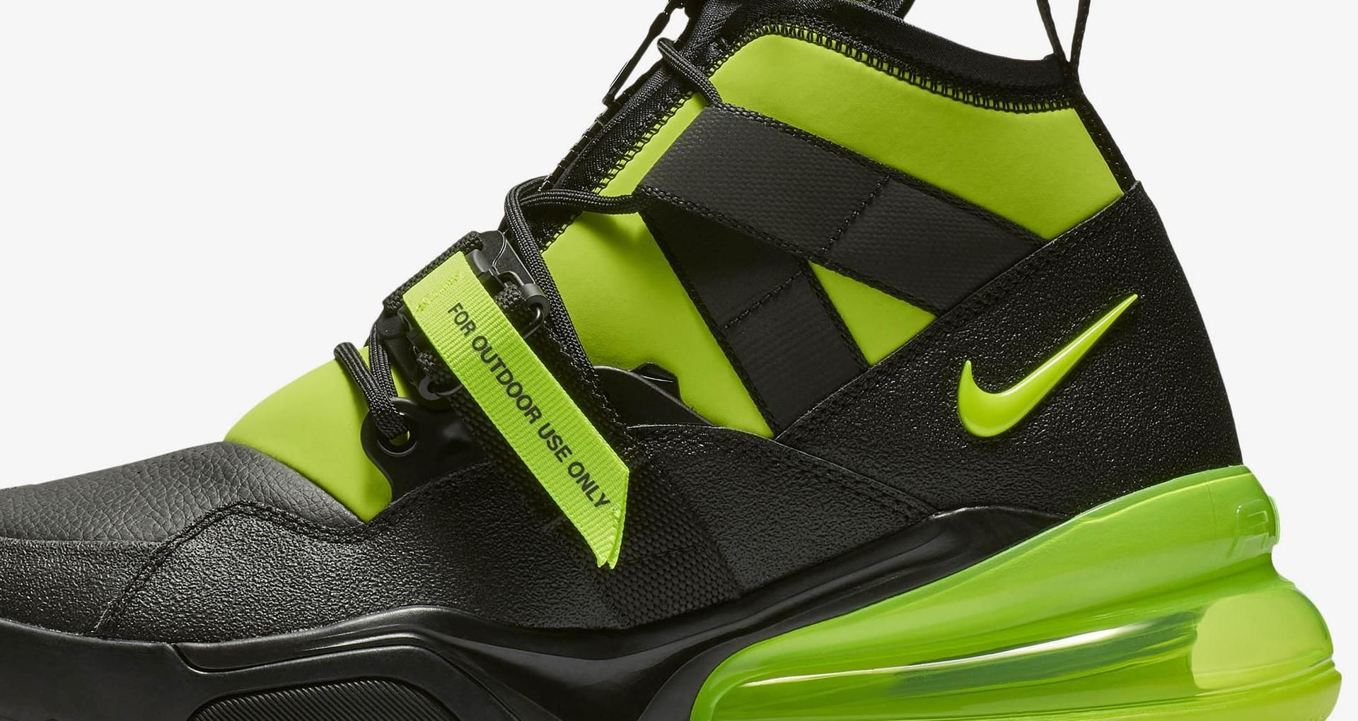 Nike Air Force 270 Utility 'Black & Volt' Release Date. Nike