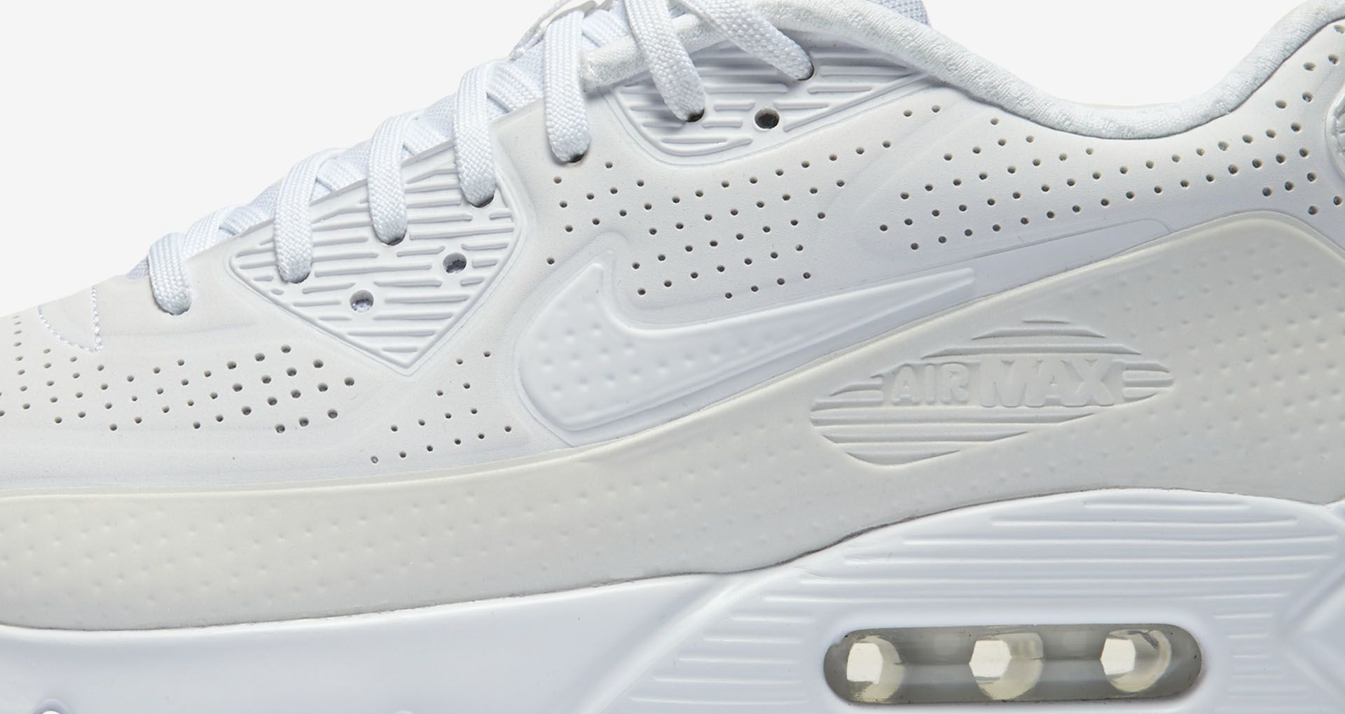 newest acd2d 33645 Nike Air Max 90 Ultra Moire 'Triple White'. Nike+ SNKRS