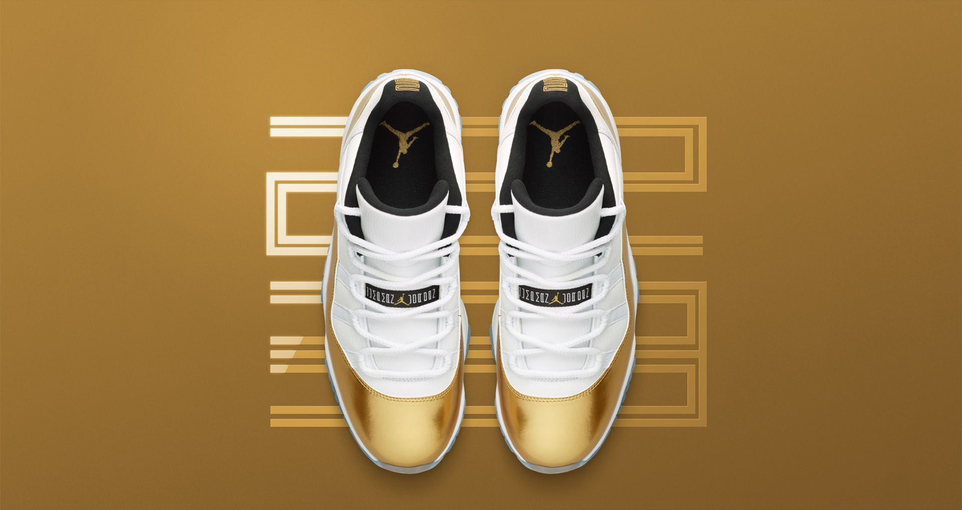 0c076038502 Air Jordan 11 Retro Low 'White & Metallic Gold' Release Date. Nike⁠+ ...