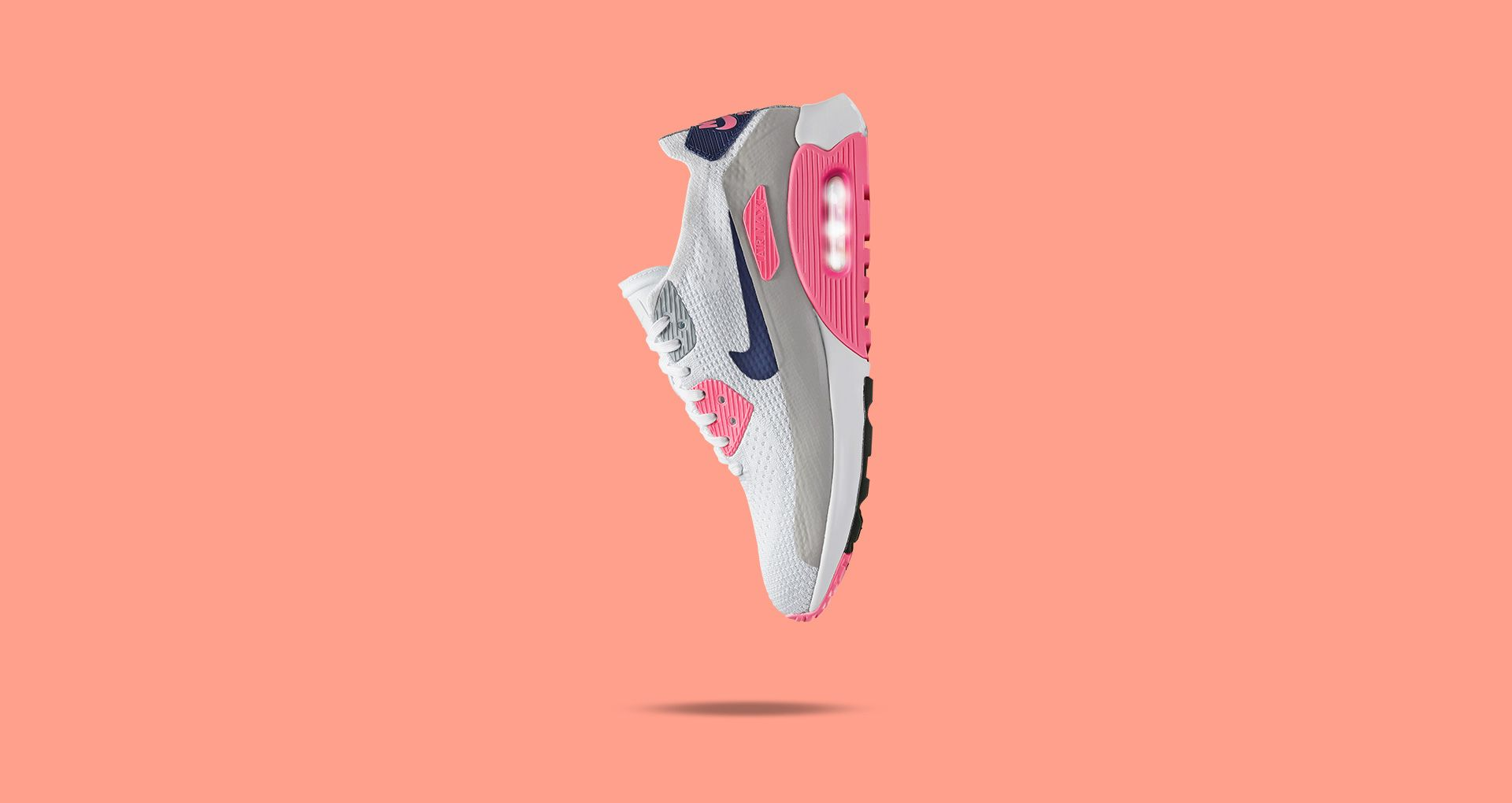 buy online 59918 fa9e4 Women's Nike Air Max 90 Ultra 2.0 Flyknit 'White & Laser ...