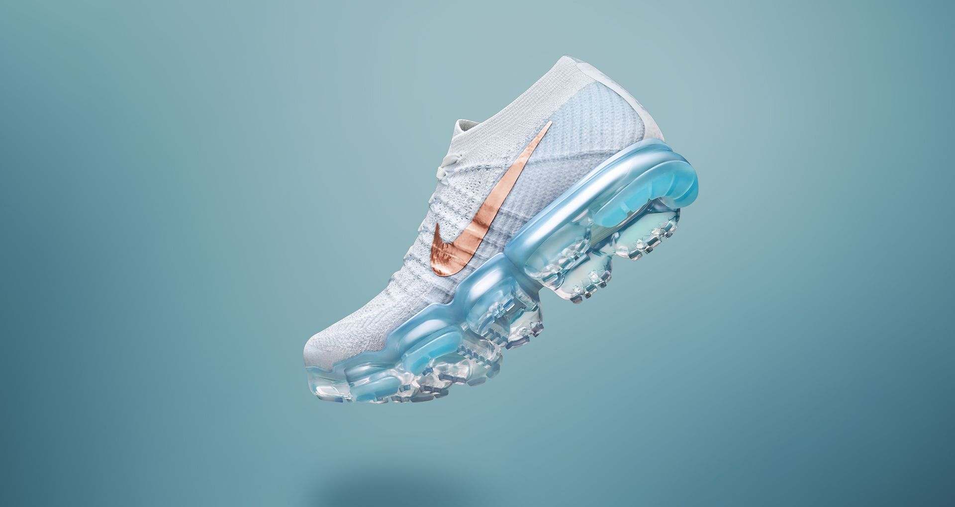 hot sale online e9f06 cfe1d Women's Nike Air VaporMax Flyknit 'Summit White & Hydrogen ...