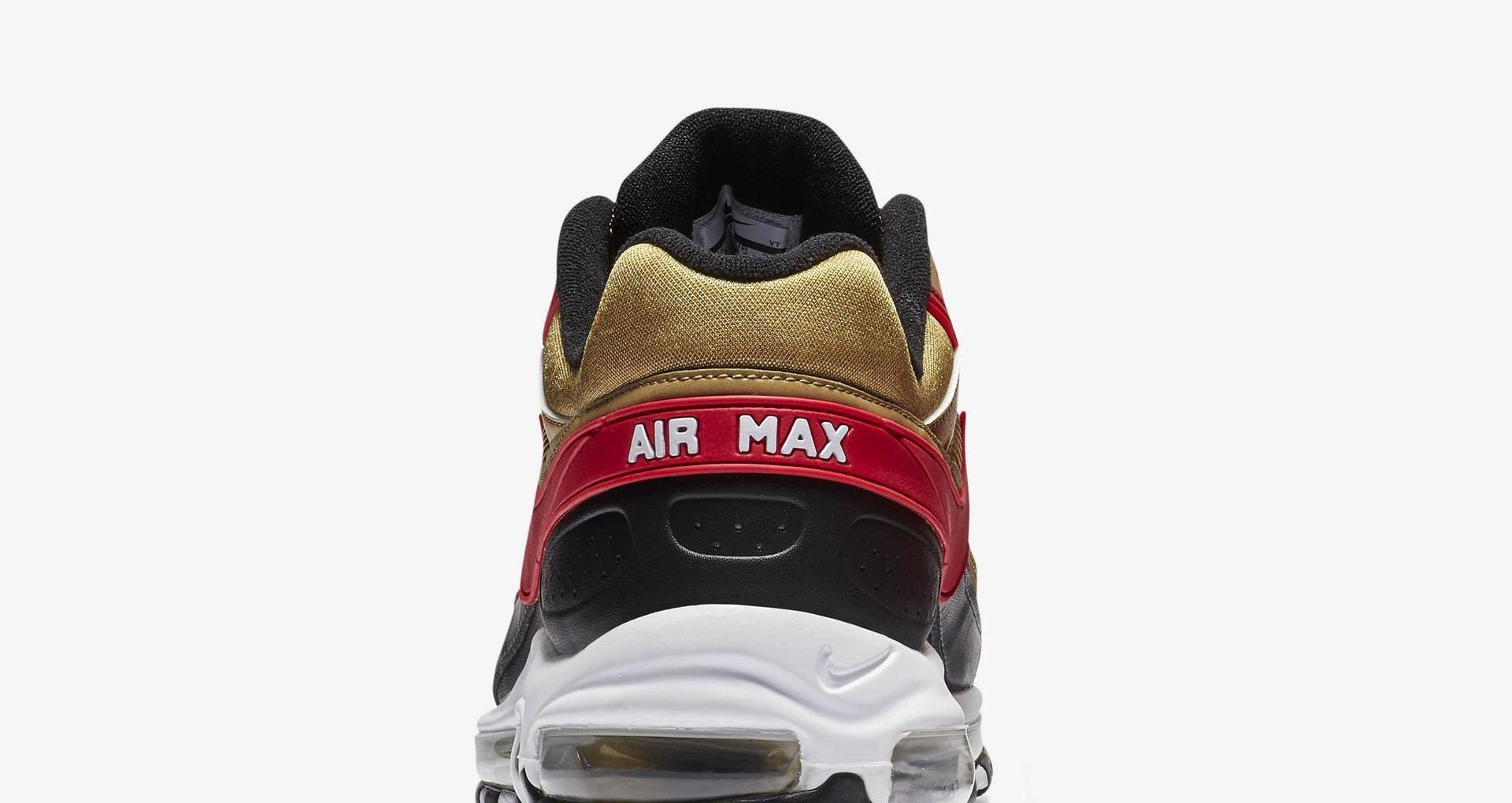 Nike Air Max 97BW 'Metallic Gold & Black & University Red