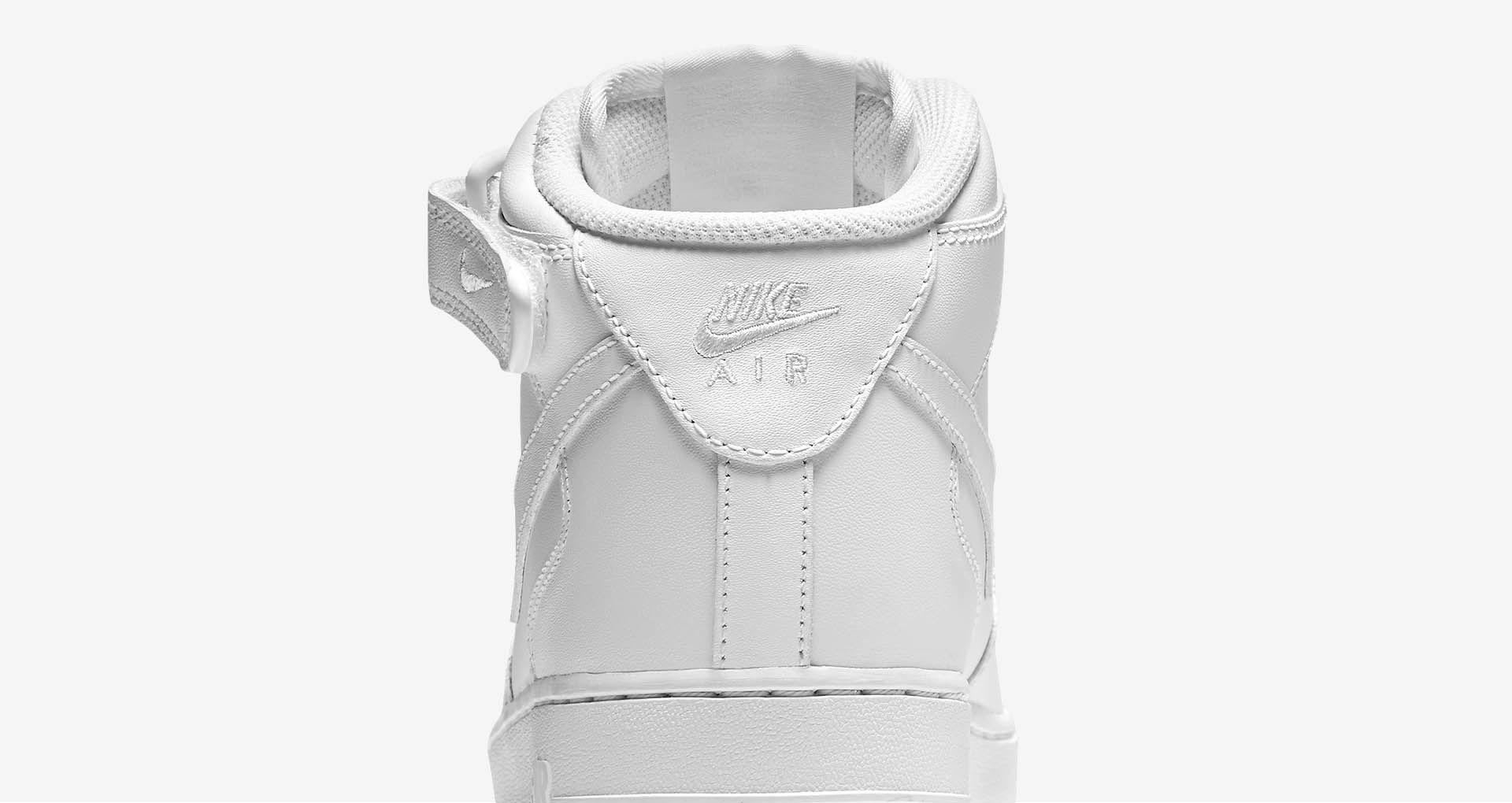 Women's Nike Air Force 1 Mid 07 Leather 'Triple White'. Nike