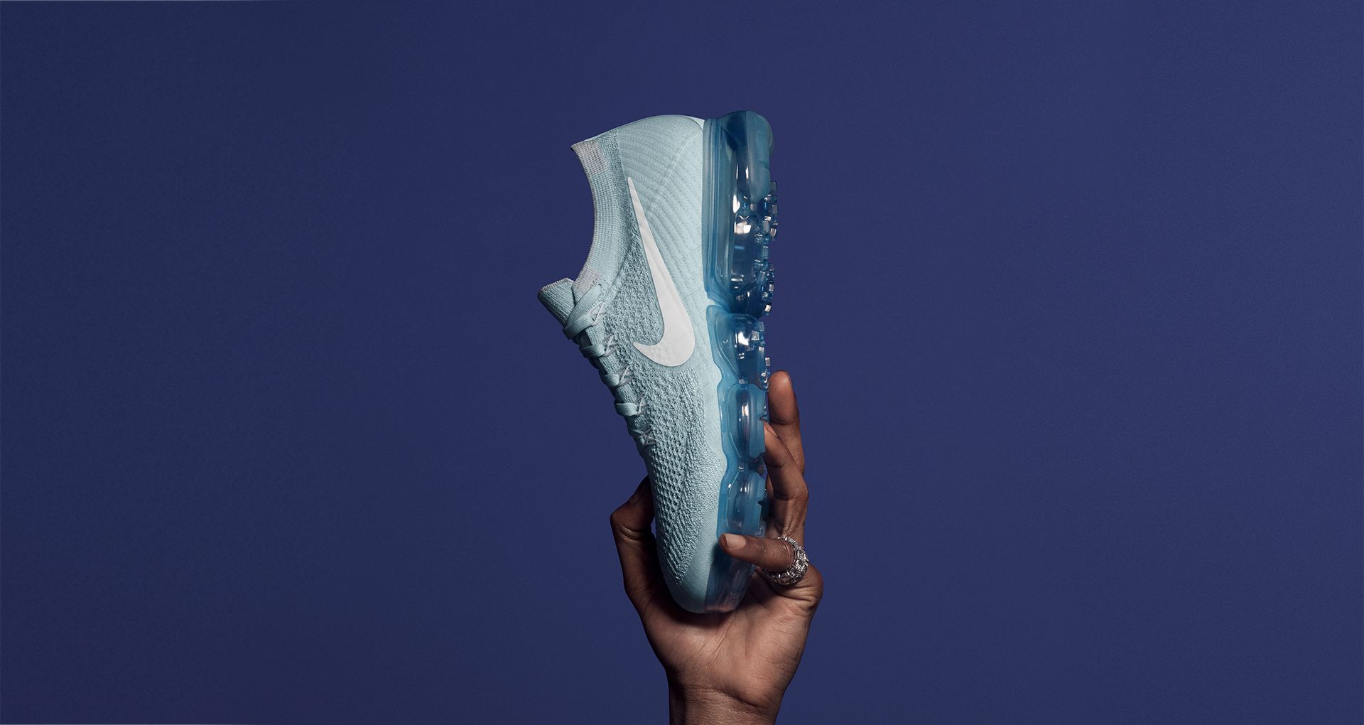 3709e3570e558 Nike Air VaporMax Flyknit Day to Night 'Glacier Blue'. Nike+ Launch SI