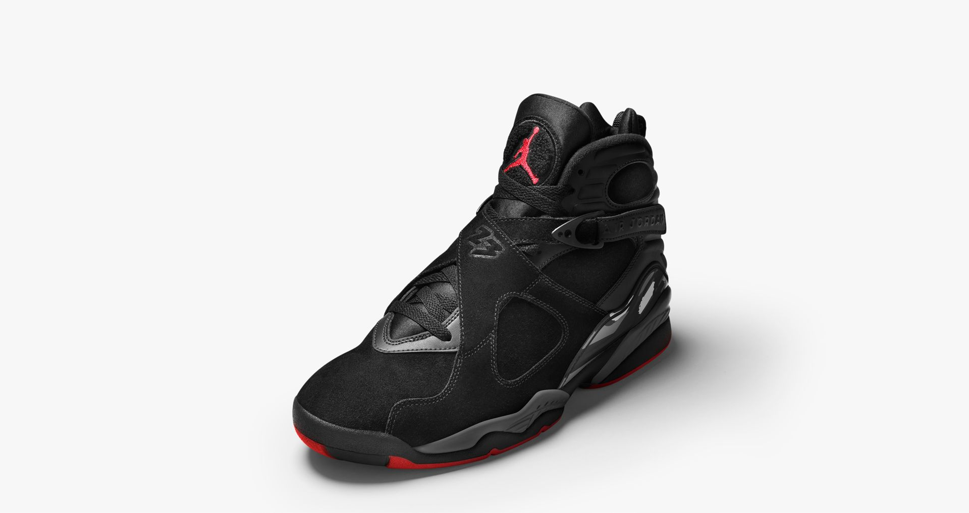 e281e6d921143a Air Jordan 8 Retro  Black   Gym Red  Release Date. Nike⁠+ SNKRS