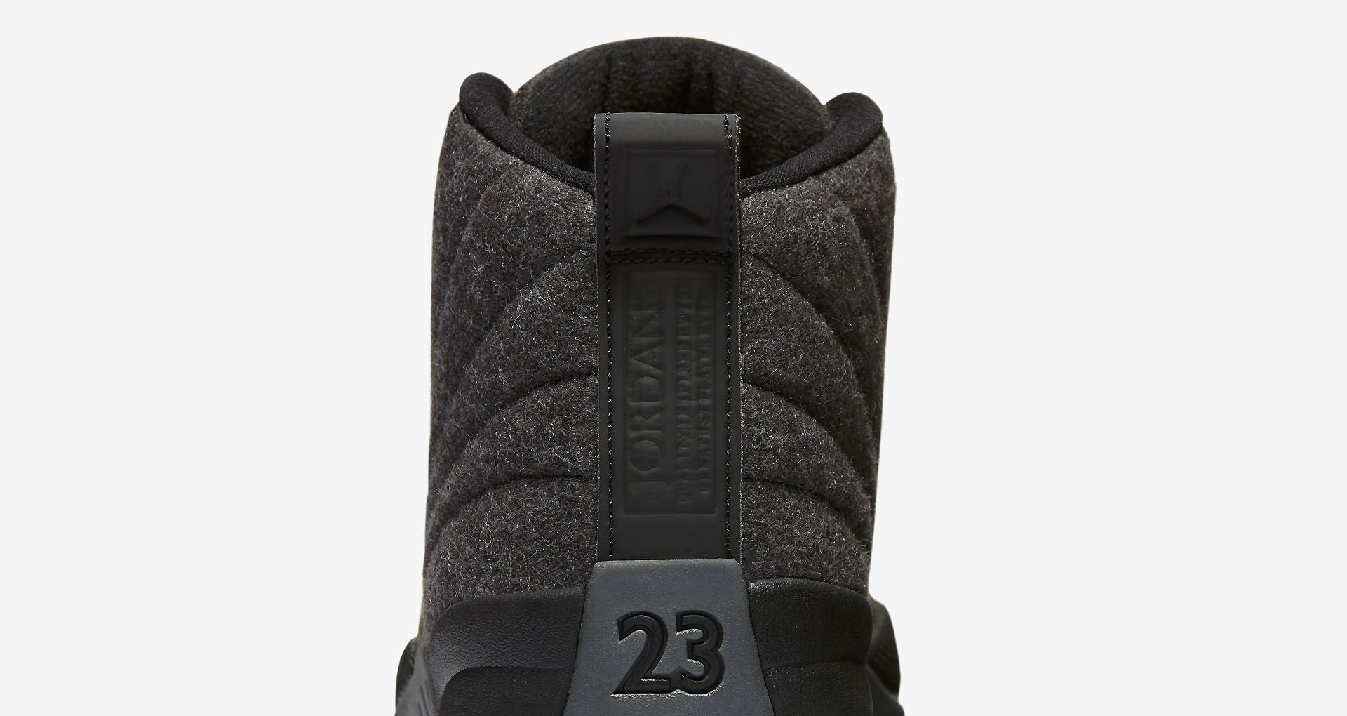 00400b0b5a8c47 Air Jordan 12 Retro Wool  Dark Grey   Black  Release Date. Nike⁠+ SNKRS