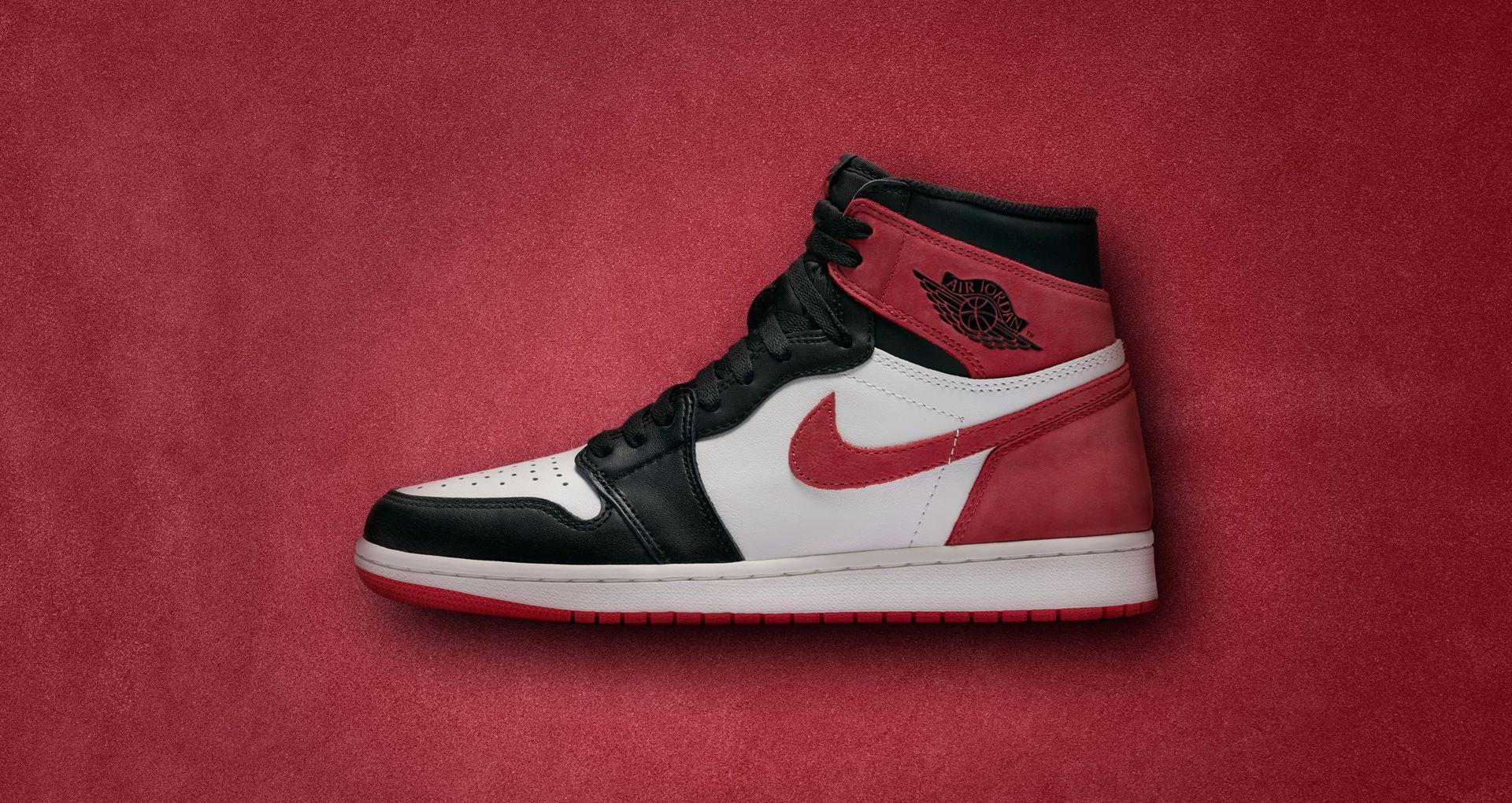 nike air jordan red and black