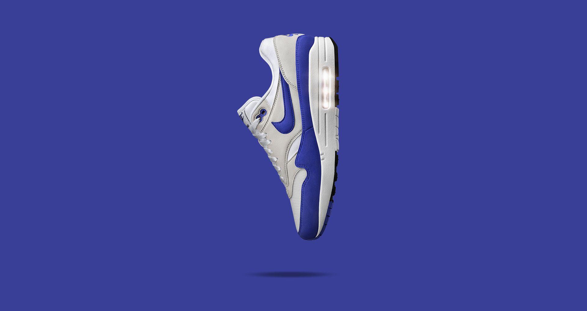 d0e759bc8669 Nike Air Max 1 Anniversary  White   Neutral Grey   Game Royal ...