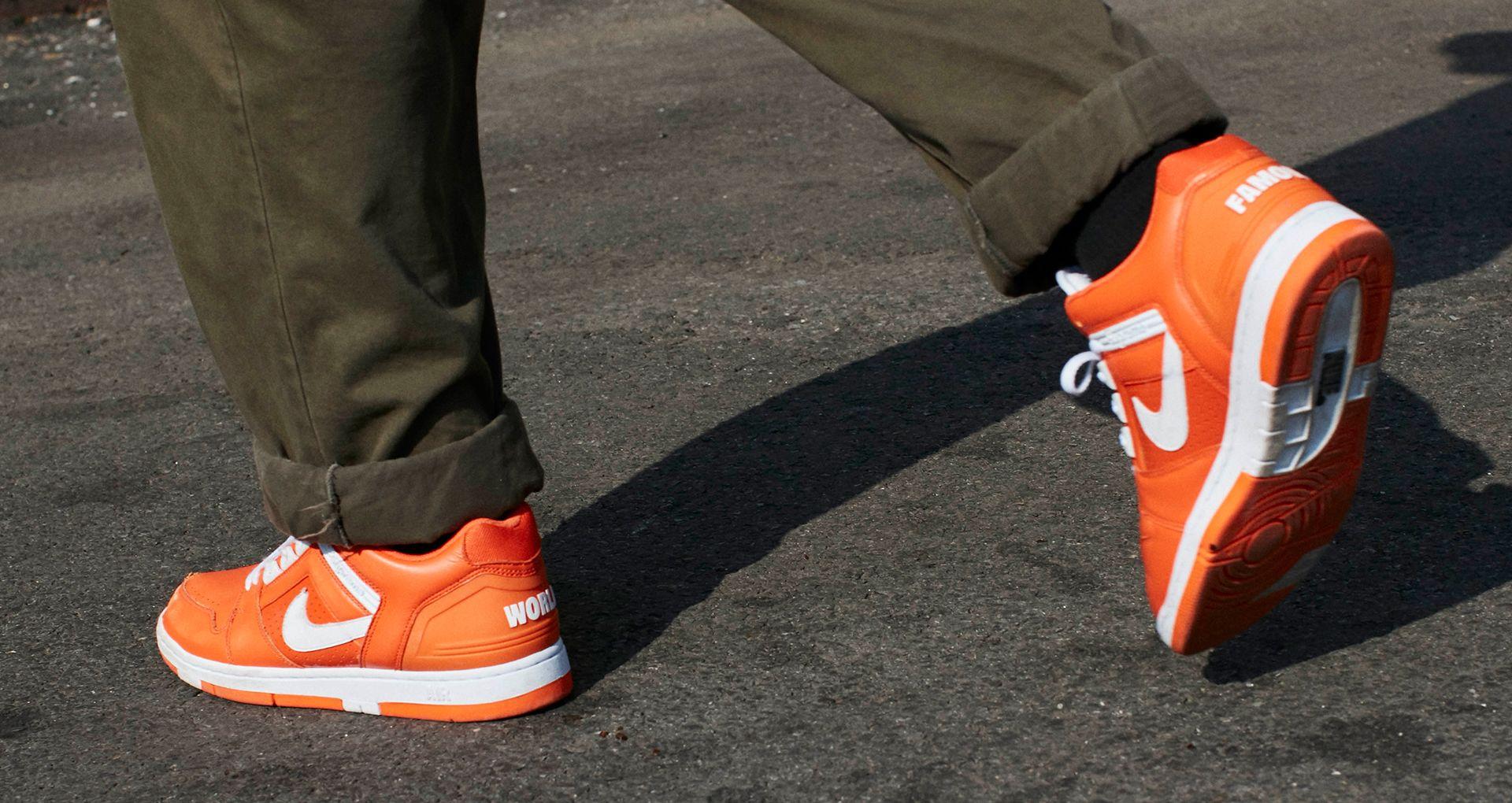Nike SB AF2 Low Supreme 'Orange Blaze'. Nike SNKRS