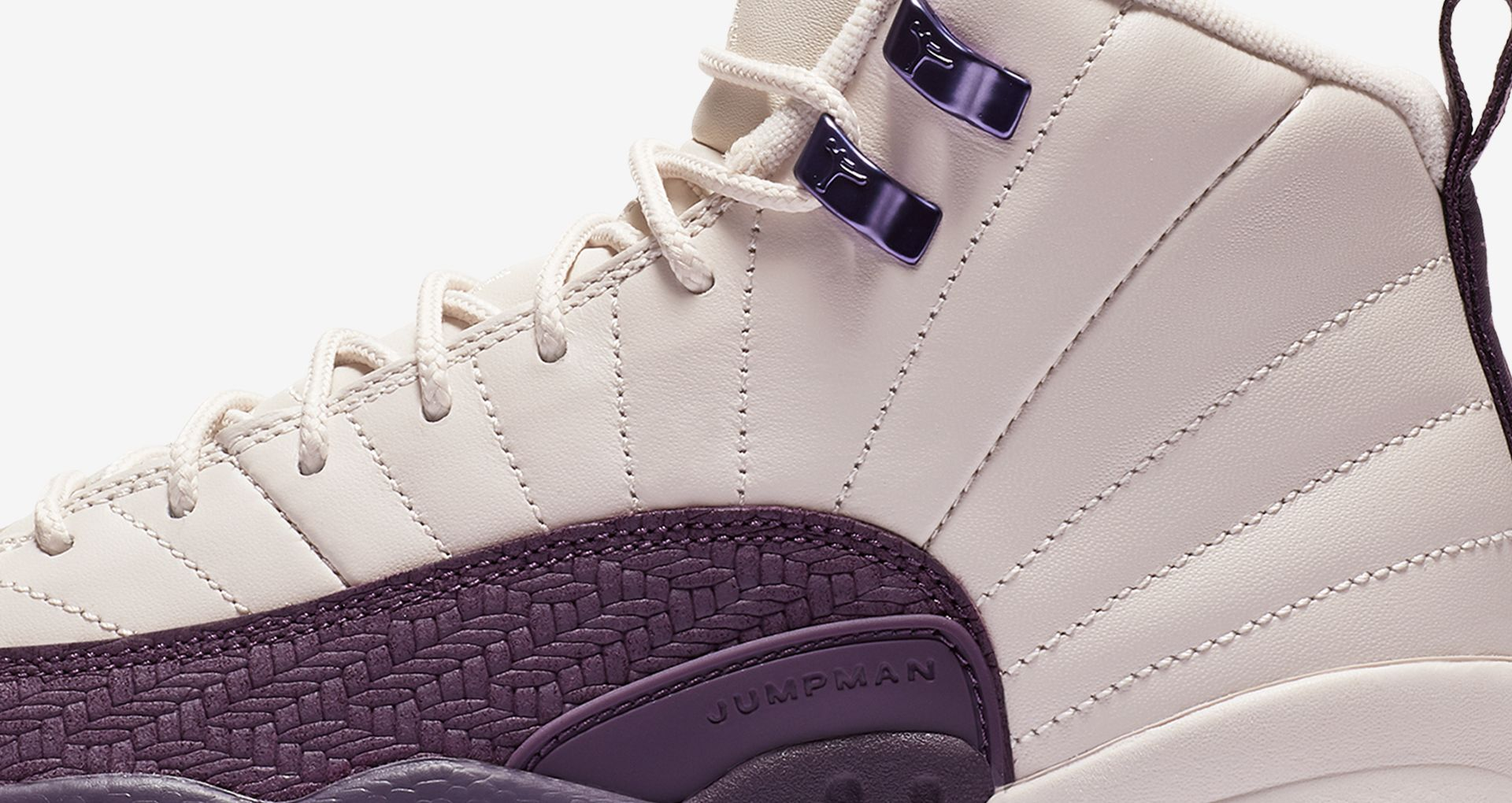 best service f63fc 9e262 Big Kids' Air Jordan 12 Retro 'Desert Sand & Pro Purple ...