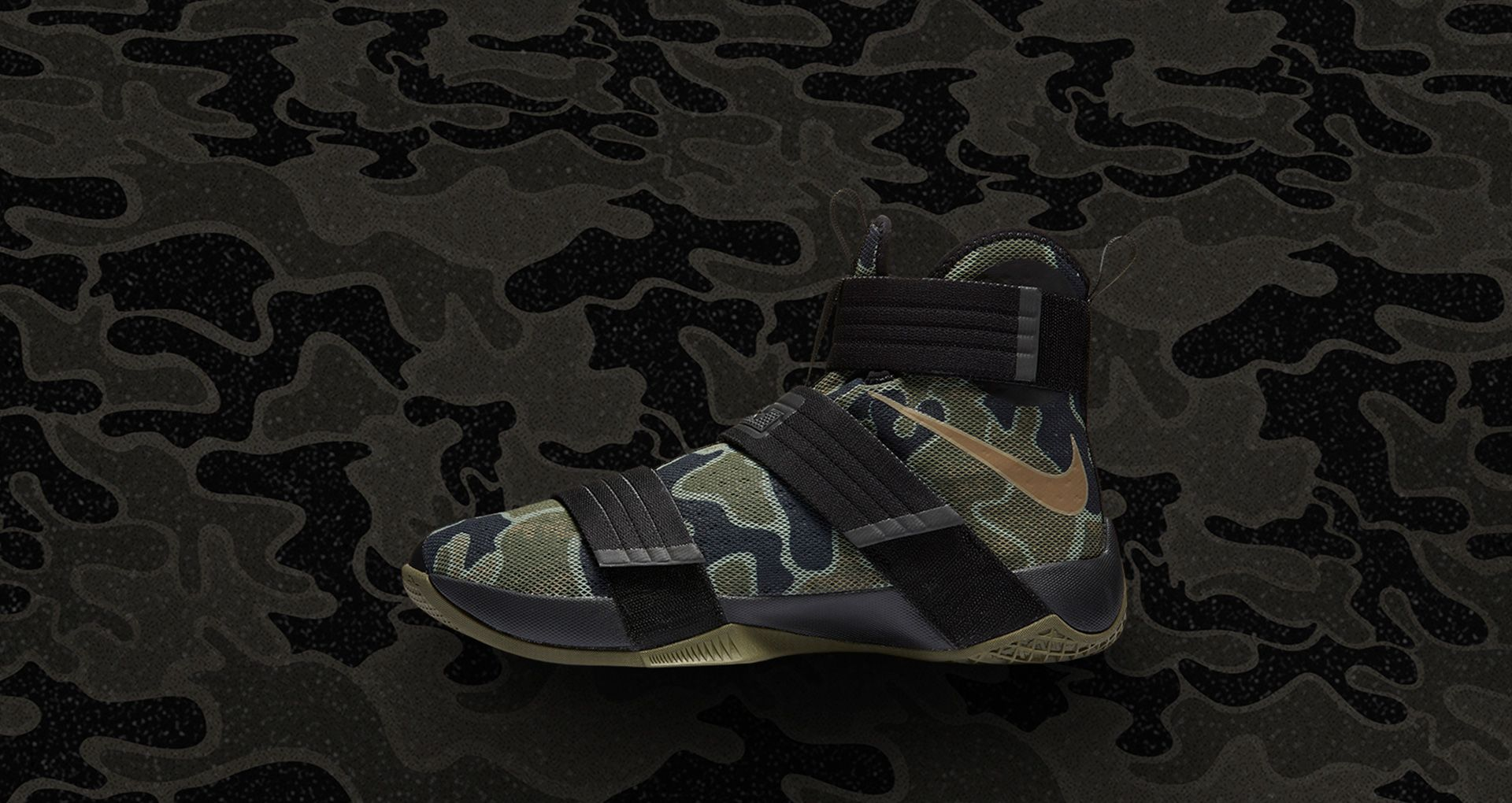 4f2f4caf6205 Nike Zoom LeBron Soldier 10  Camo  Release Date. Nike⁠+ SNKRS