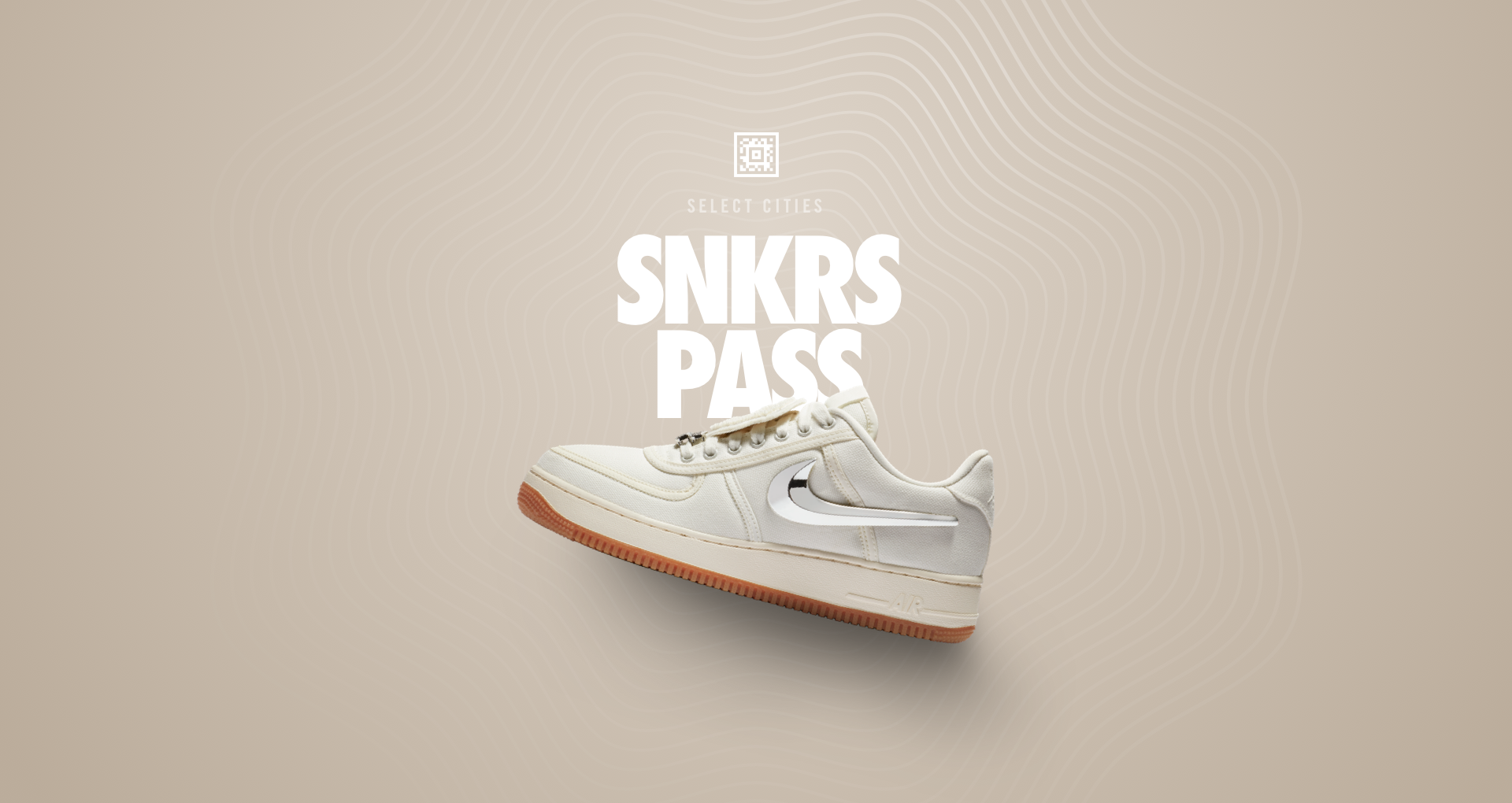 Nike Air Force 1 Low 'Travis Scott' SNKRS Pass Select Cites