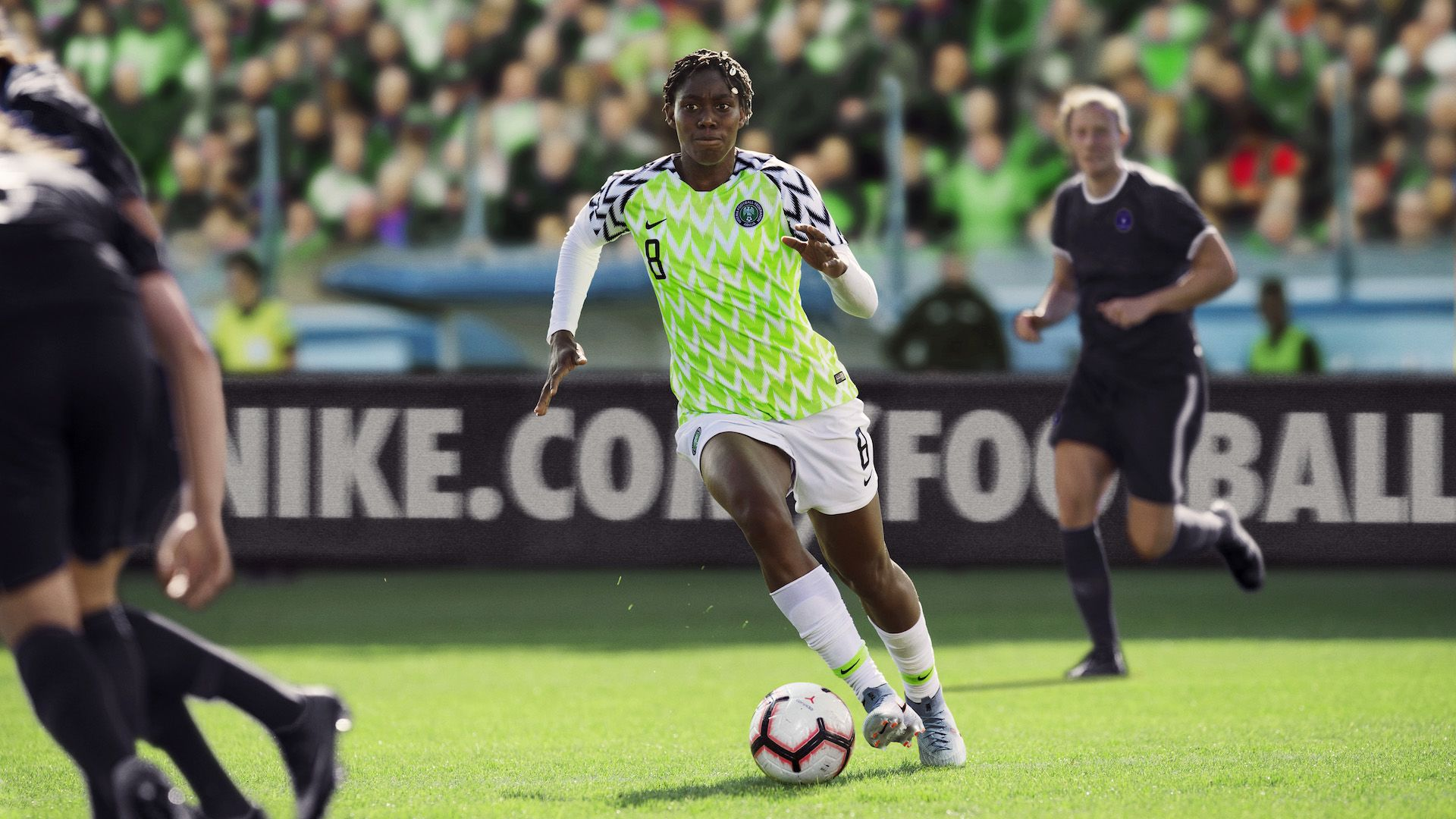 best service cbedf a5ecf Nigeria Women's Soccer Federation 2019 Stadium Home Jersey ...