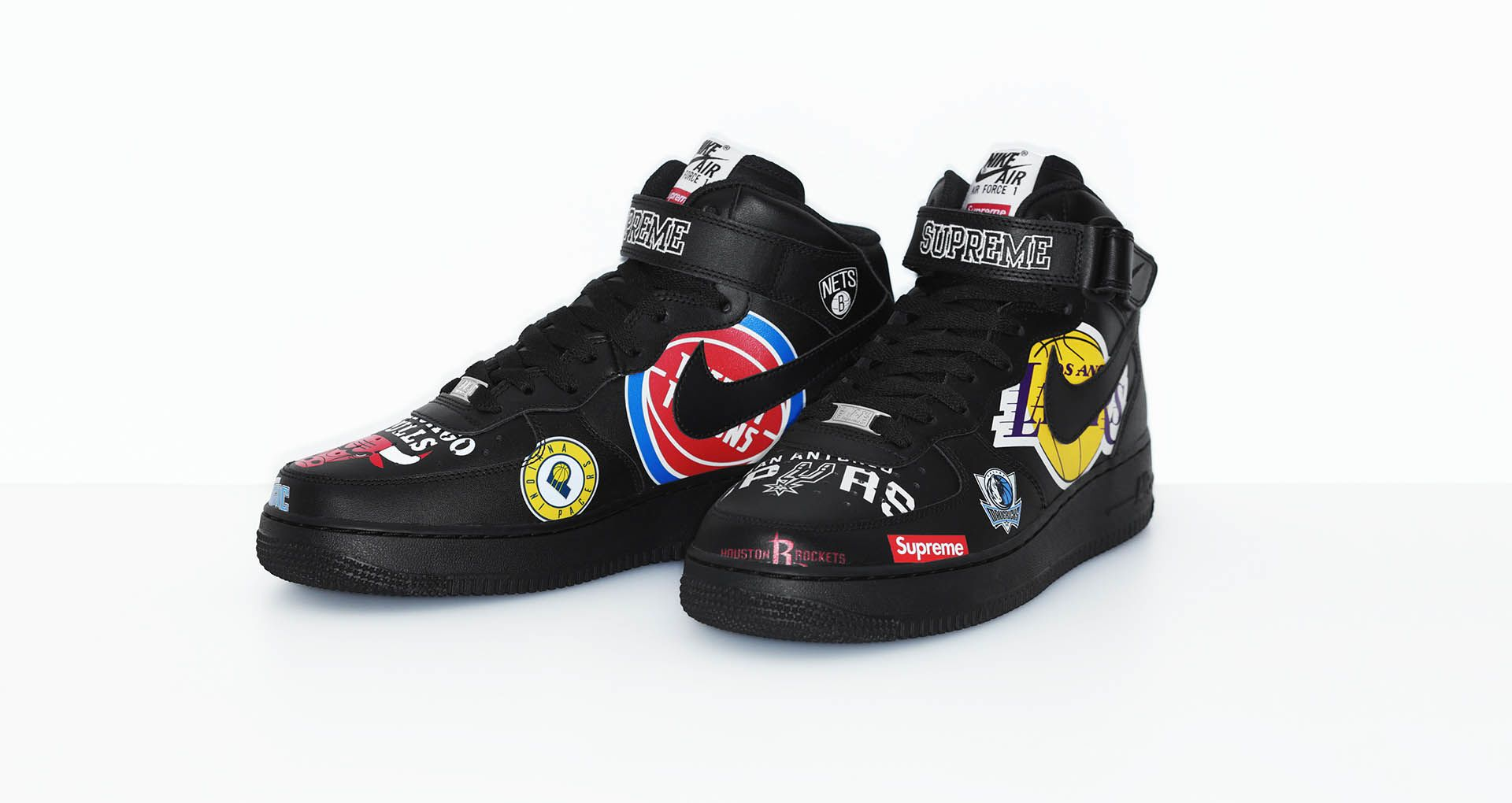 buy online 7c609 dee1d Nike Air Force 1 Mid Supreme NBA 'Black' Release Date. Nike ...