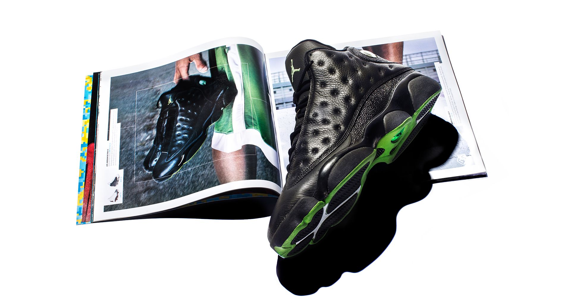 sale retailer 0dd0e 9d67f Inside The Vault: Air Jordan 13 Altitude Green. Nike+ SNKRS