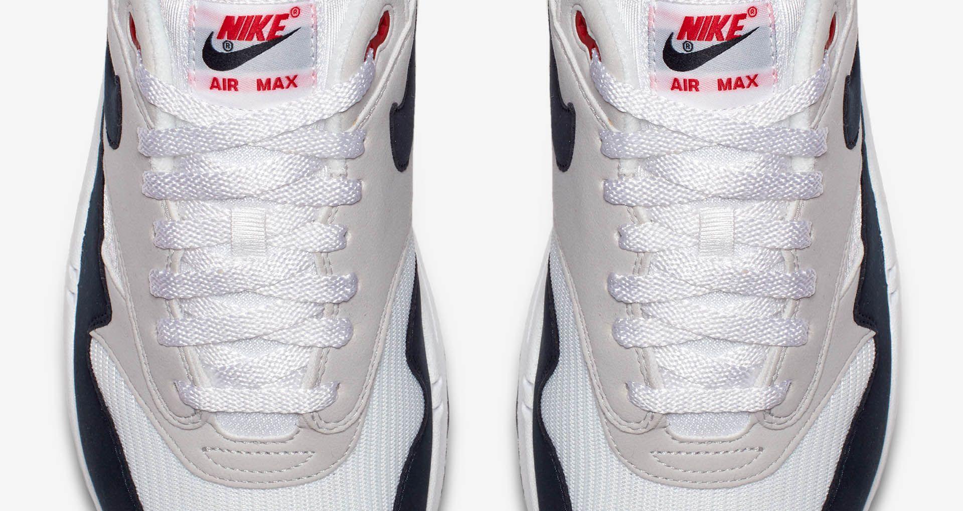 Nike Air Max 1 Anniversary 'White & Dark Obsidian' Release