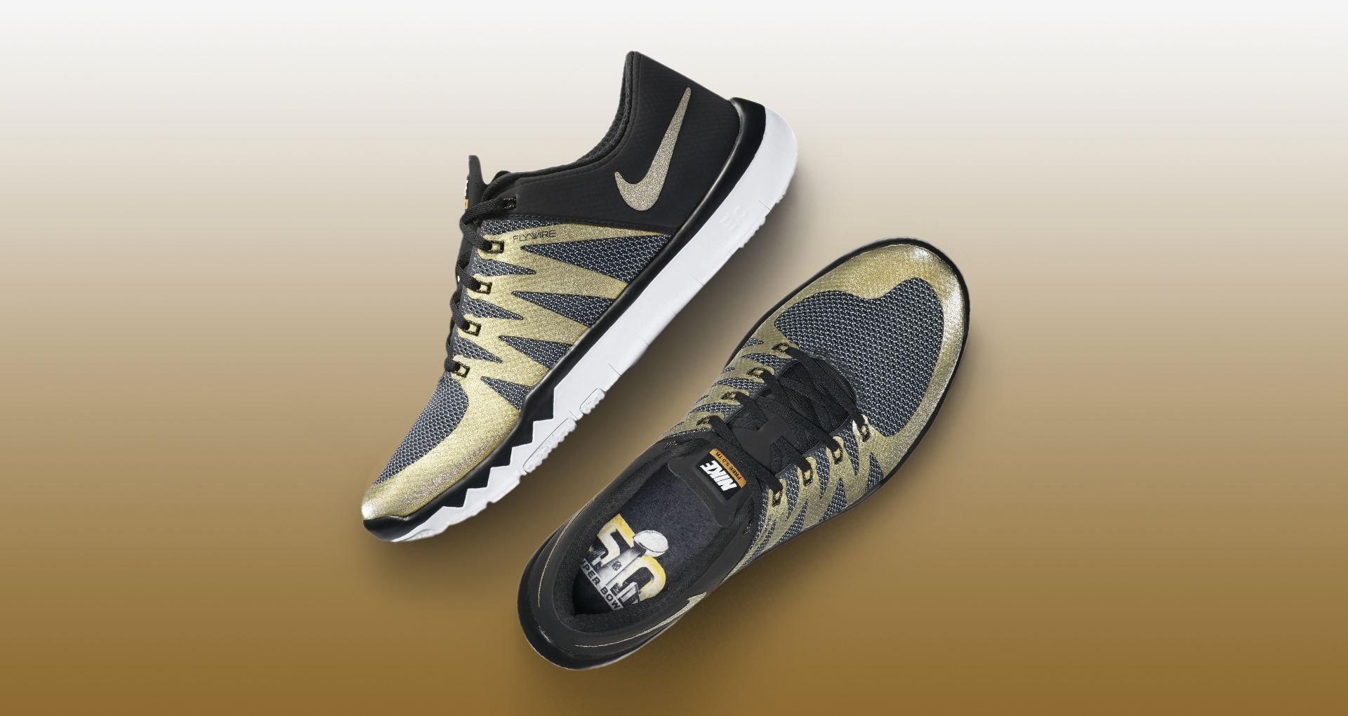lowest price 9beef 7eaf6 Nike SB50 Nike Free Trainer 5.0 V6 'Black & Metallic Gold ...