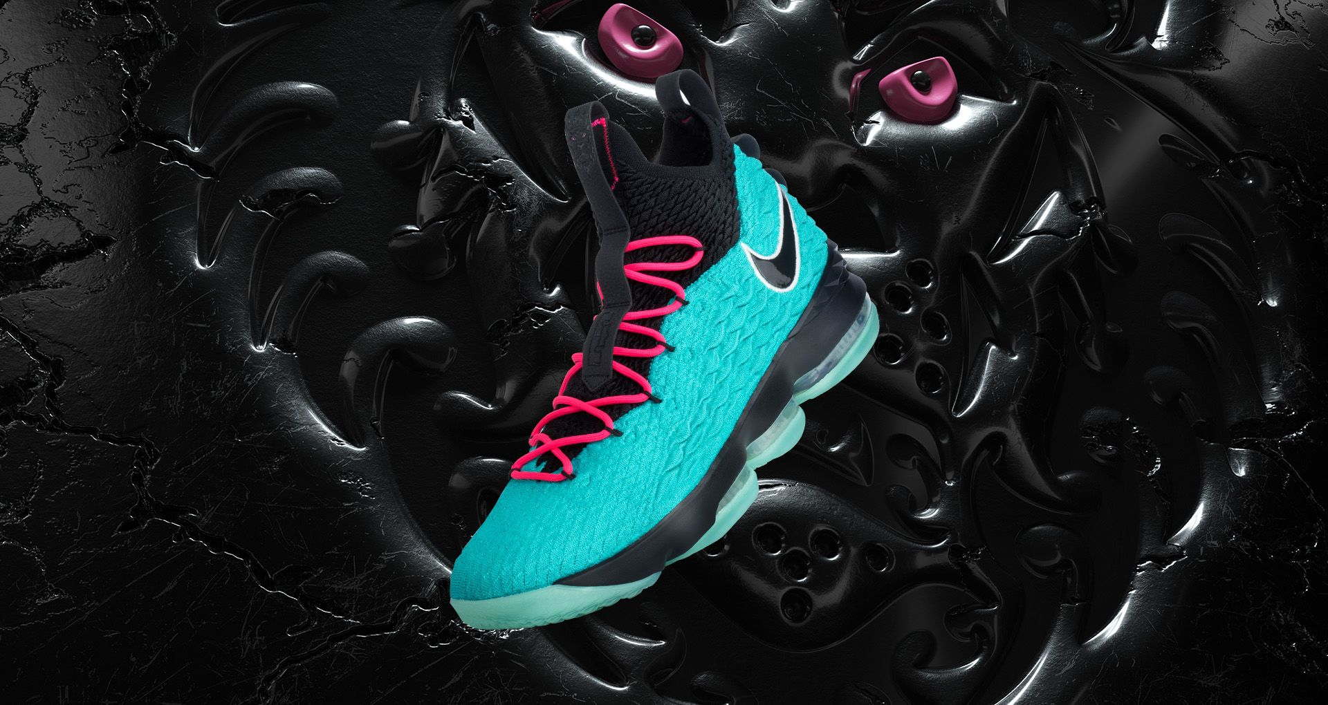 on sale 52a6b 63911 Nike Lebron Watch 'Lebron 15 South Beach'. Nike⁠+ SNKRS
