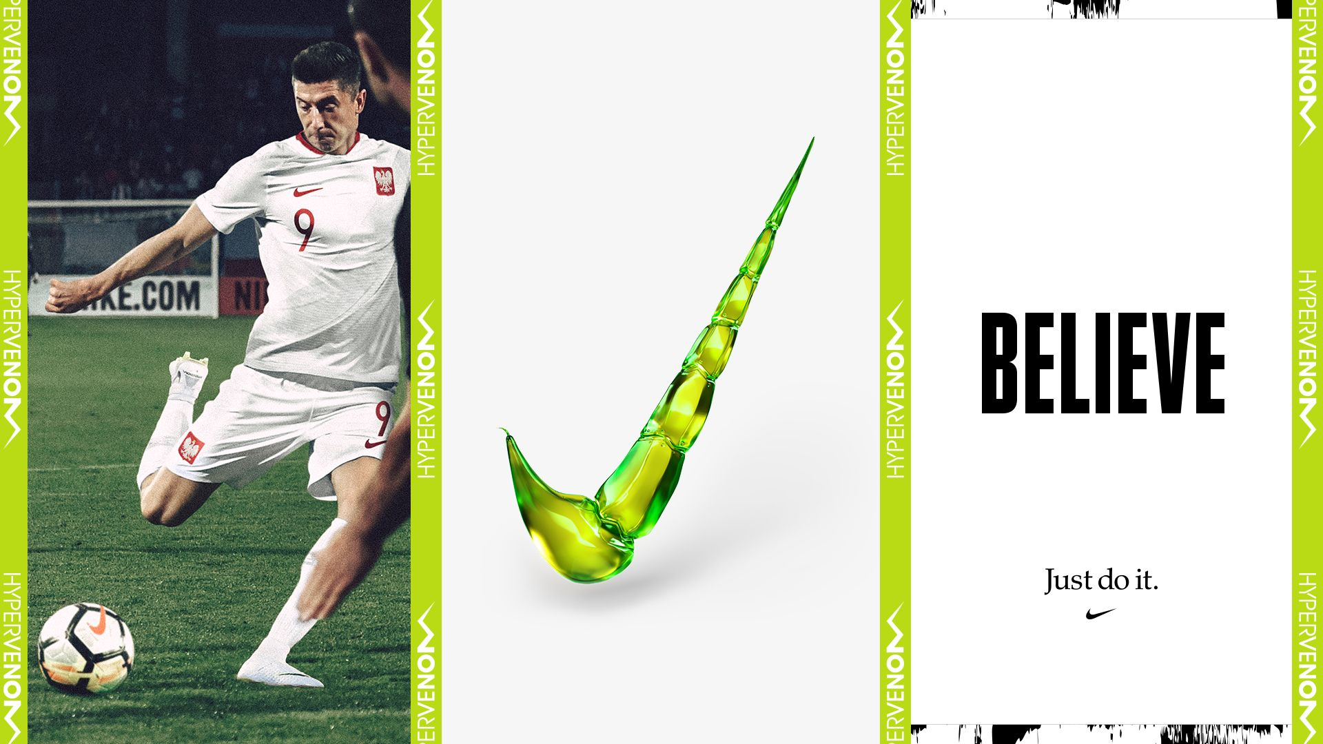 official photos 00388 ad3d9 Robert Lewandowski Hypervenom Phantom III Elite DF FG. Nike ...