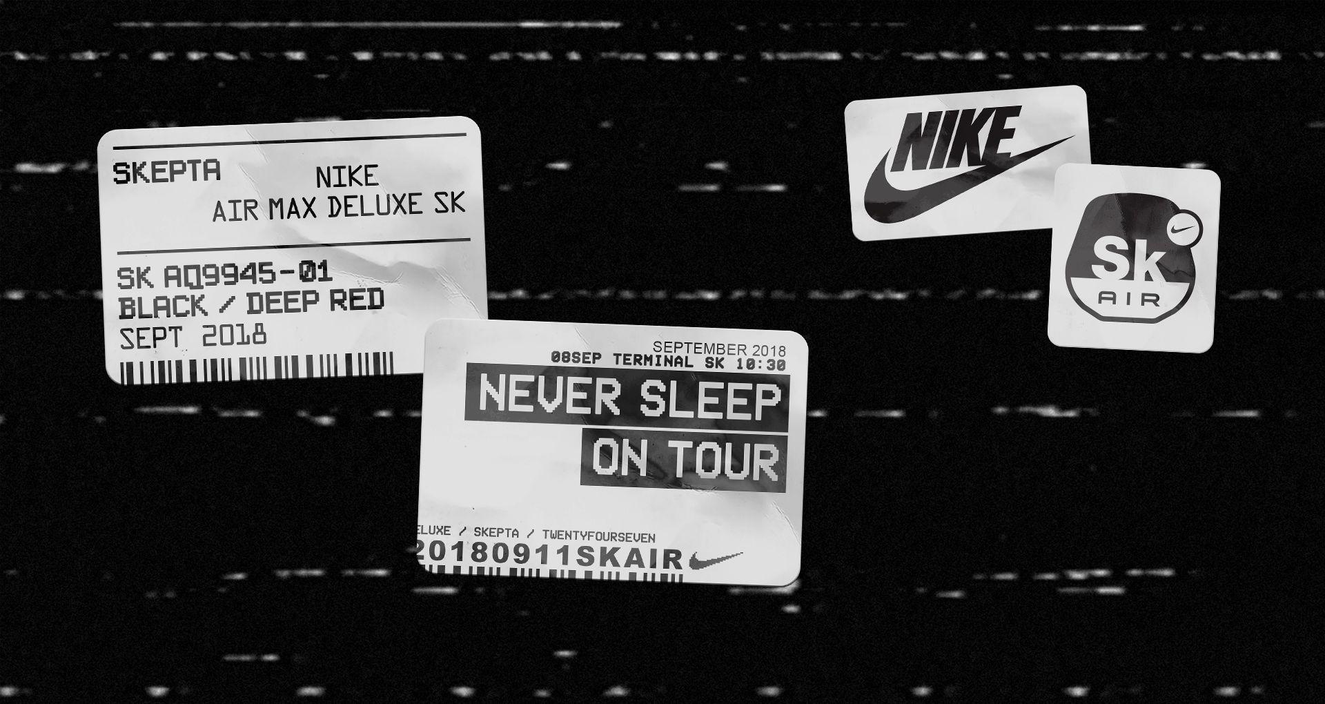 Nike Air Max Deluxe SK AIR Skepta 'Never Sleep on Tour