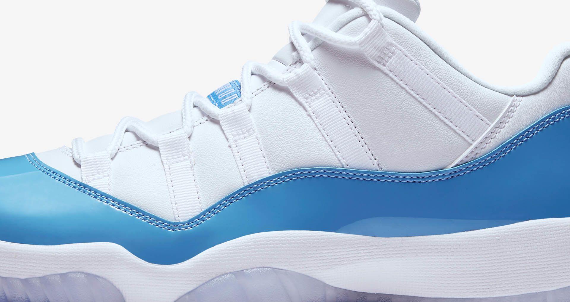 the best attitude 19413 53fe8 Air Jordan 11 Retro Low 'White & University Blue'. Nike+ SNKRS
