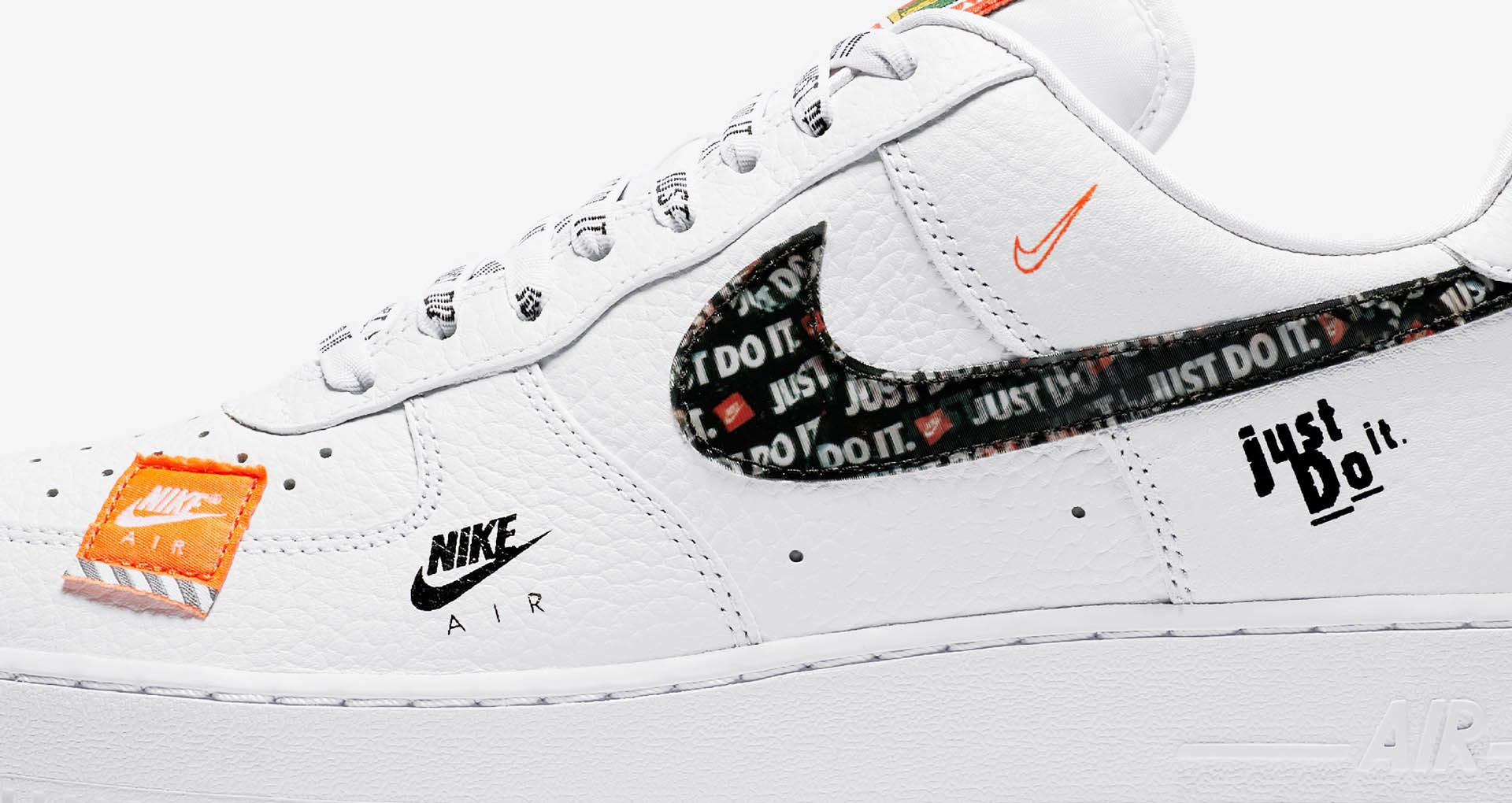 new style 402a4 e80cd Nike Air Force 1 Premium Just Do It Collection 'White & Total Orange ...