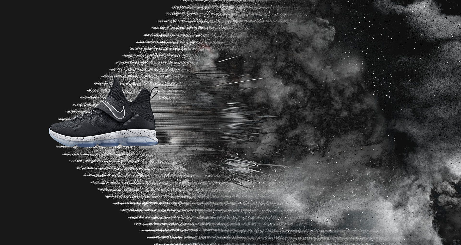 f150a7e6271 Nike LeBron 14  Black   Ice . Nike+ SNKRS
