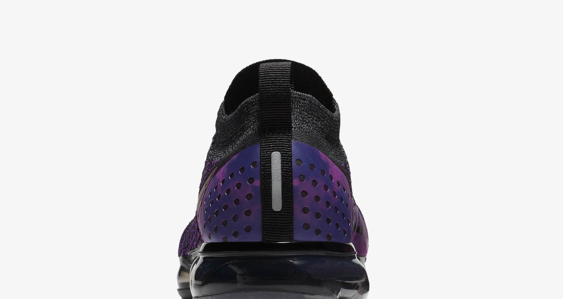 30a4fb23d5d49 Nike Air Vapormax Flyknit 2  Black   Vivid Purple   Night Purple .