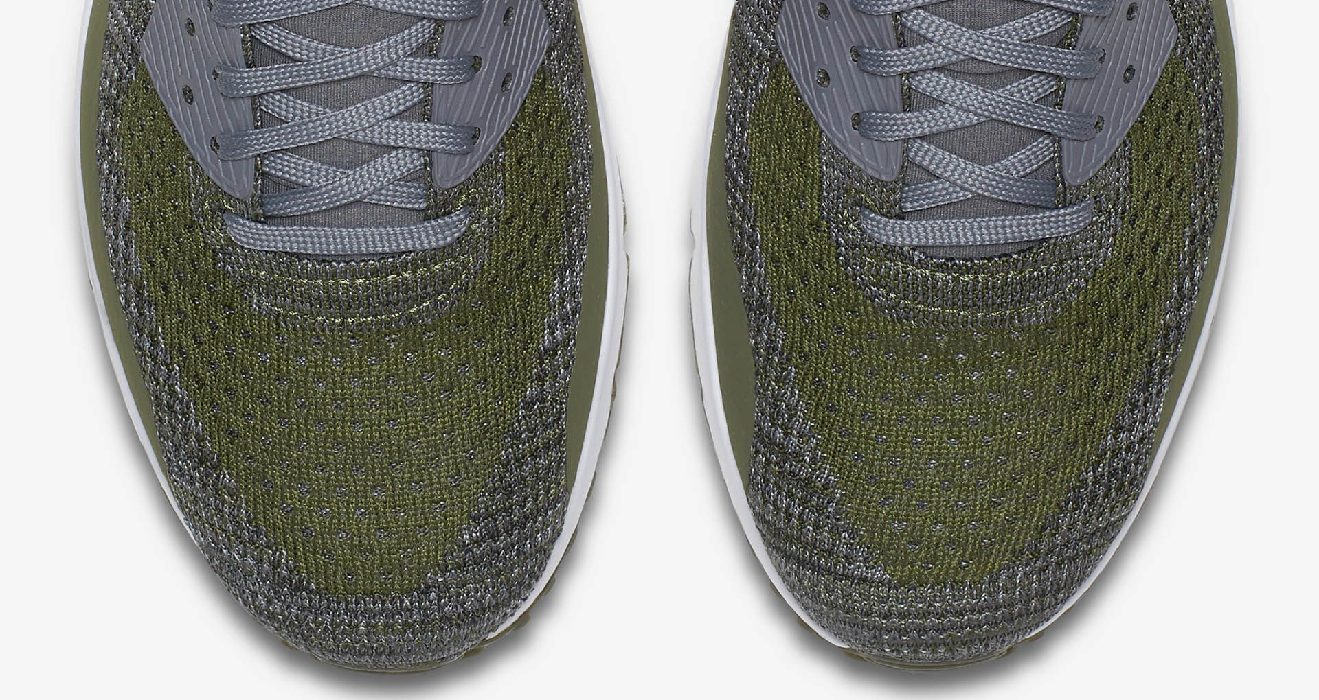 official photos e6974 92f51 Nike Air Max 90 Ultra 2.0 Flyknit 'Rough Green & Dark Grey ...