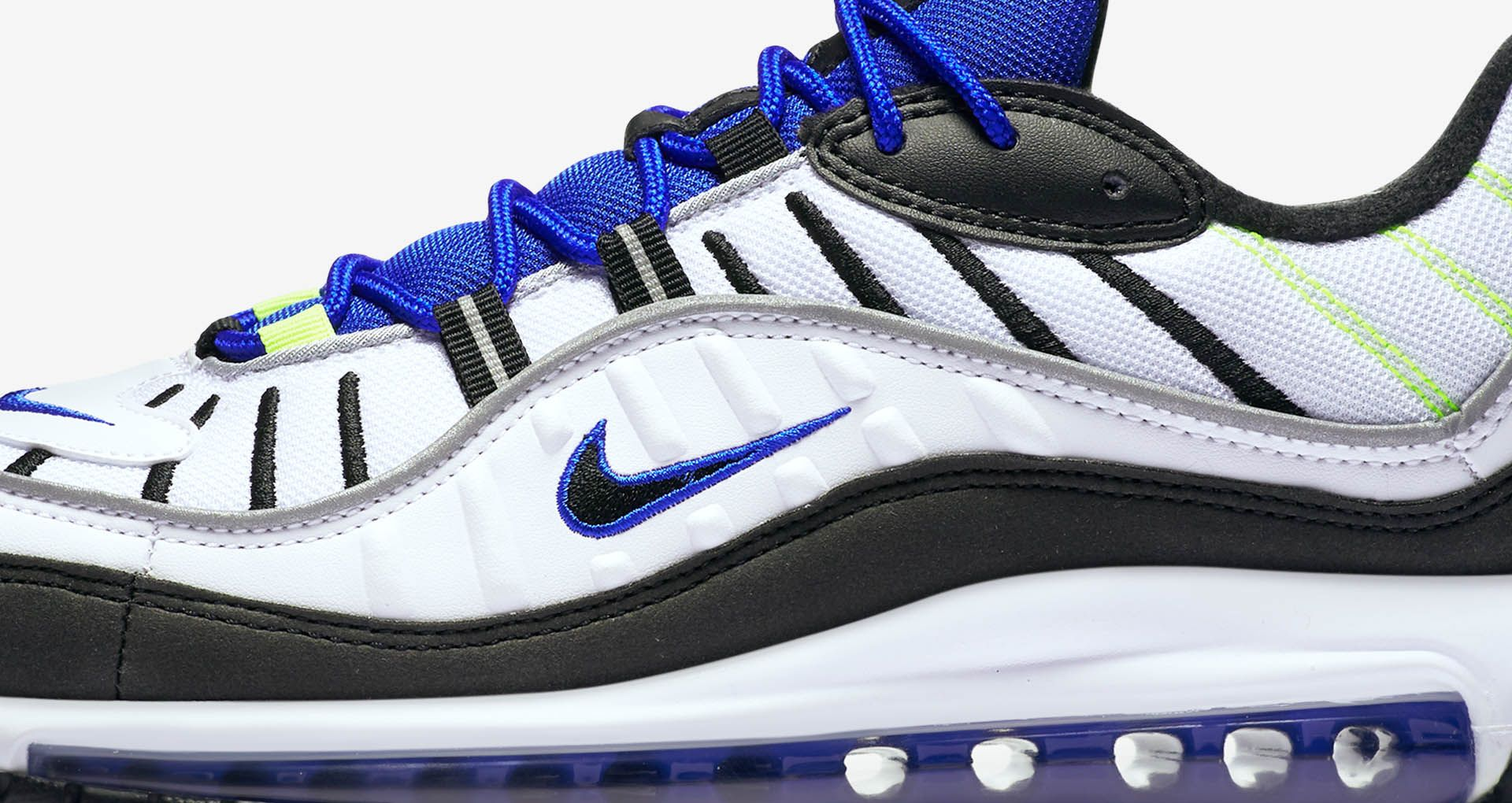separation shoes 53342 65505 Nike Air Max 98 'White & Black & Racer Blue' Release ...